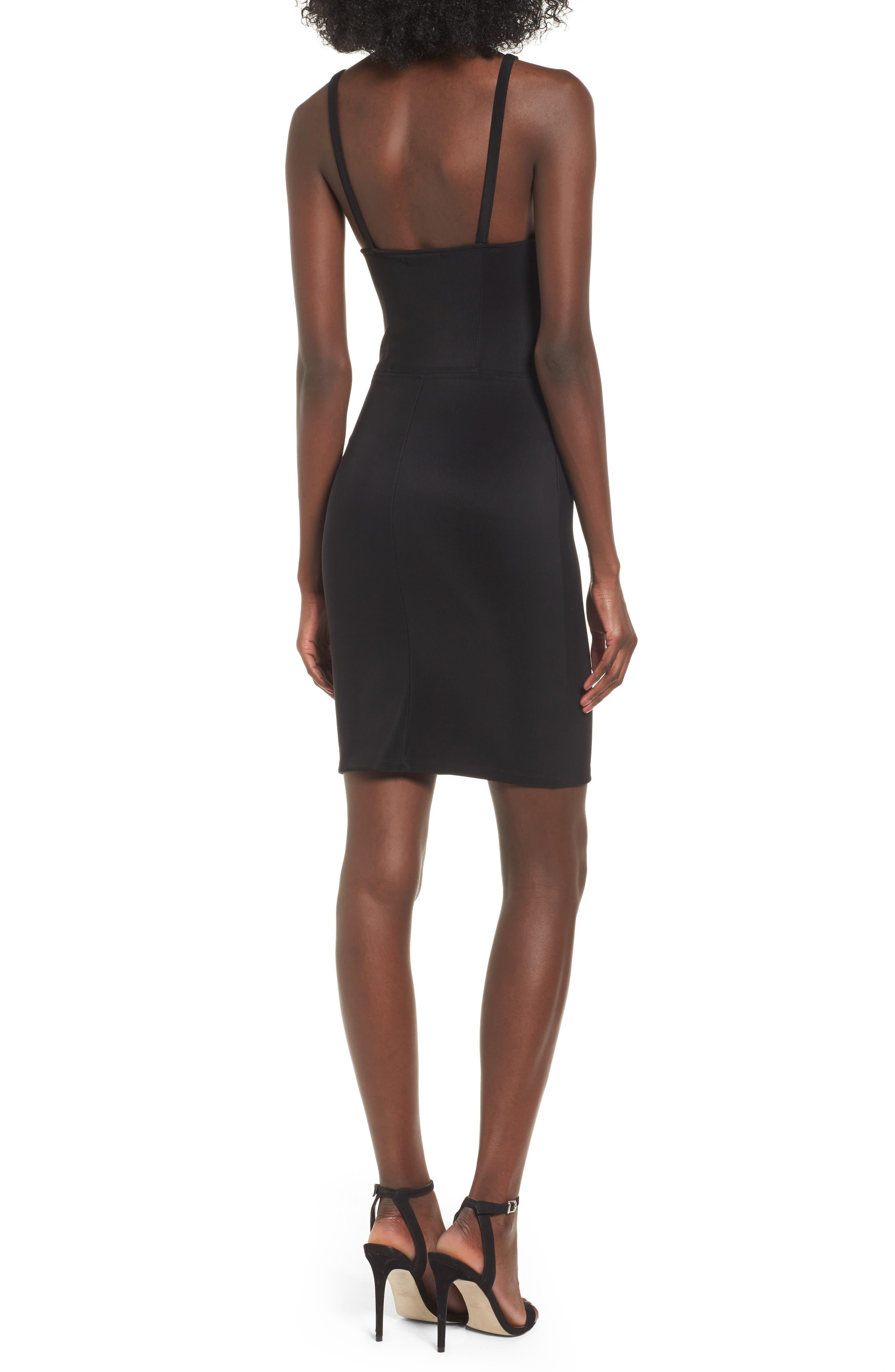 Body-Con Dress,                             Alternate thumbnail 2, color,                             Black