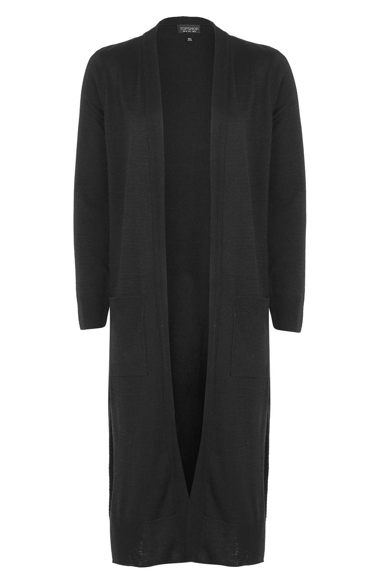 Alternate Image 4  - Topshop Longline Open Cardigan