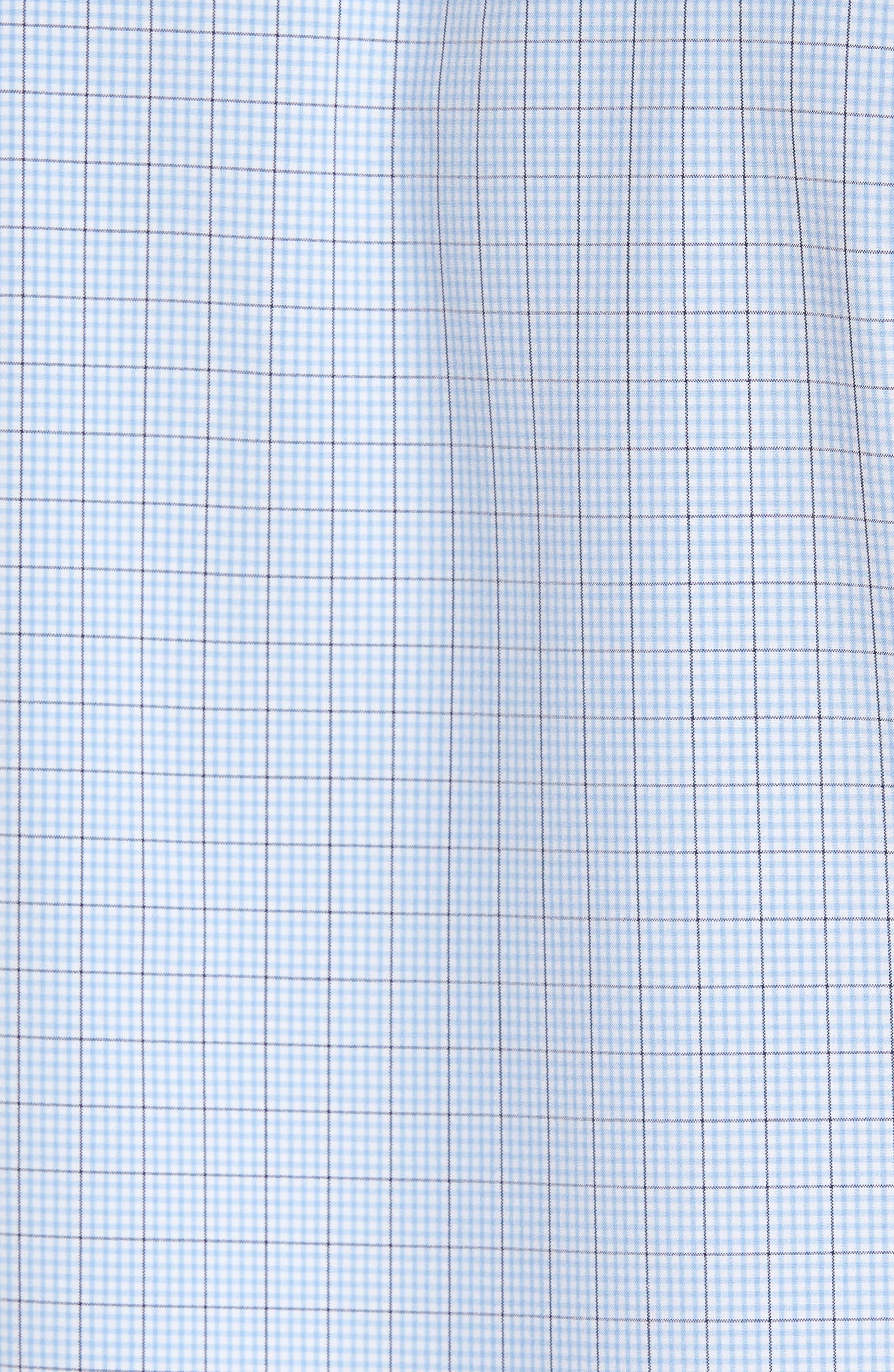 Davis Check Sport Shirt,                             Alternate thumbnail 5, color,                             Blue