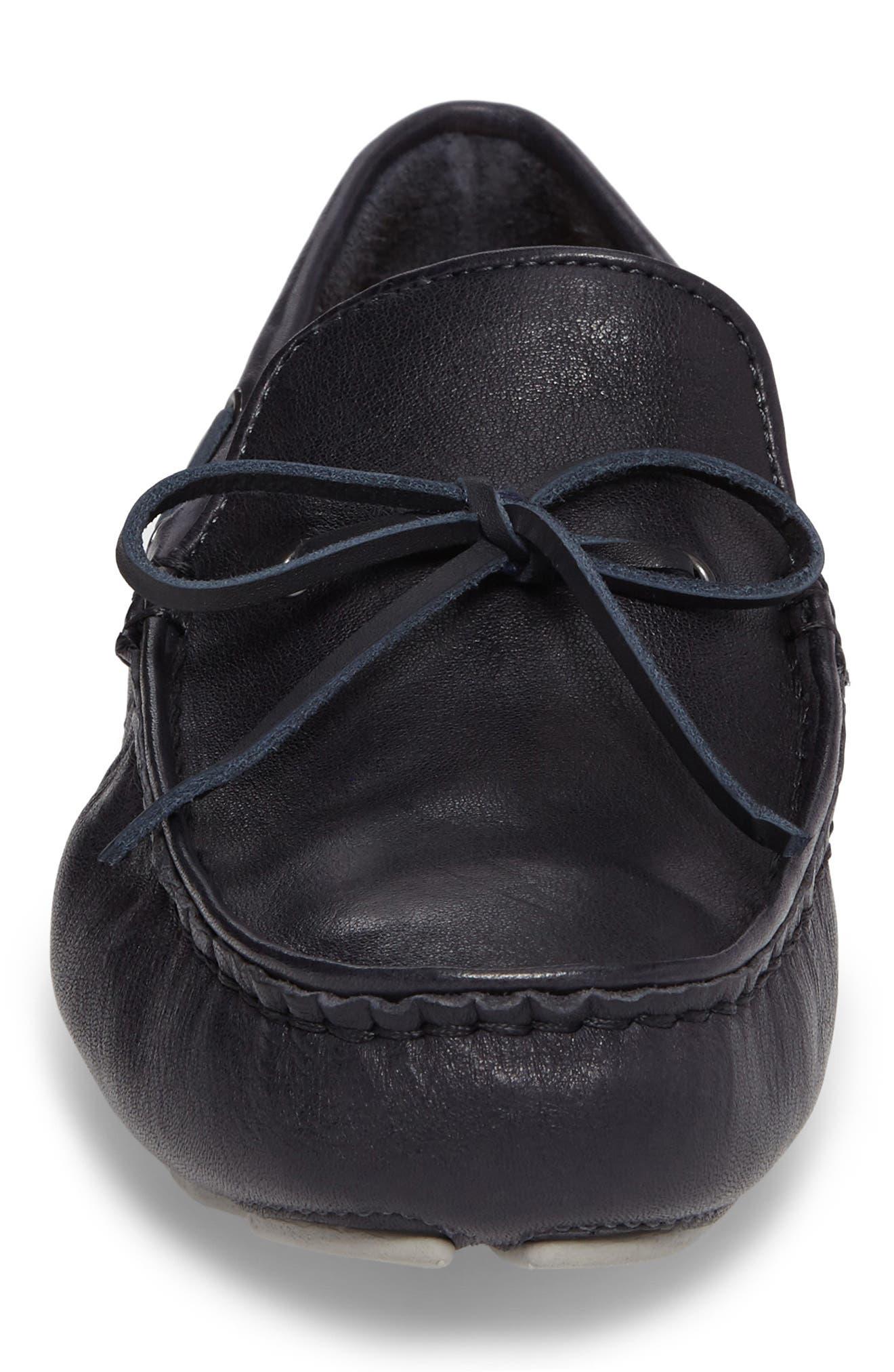 Everton Driving Shoe,                             Alternate thumbnail 4, color,                             Navy