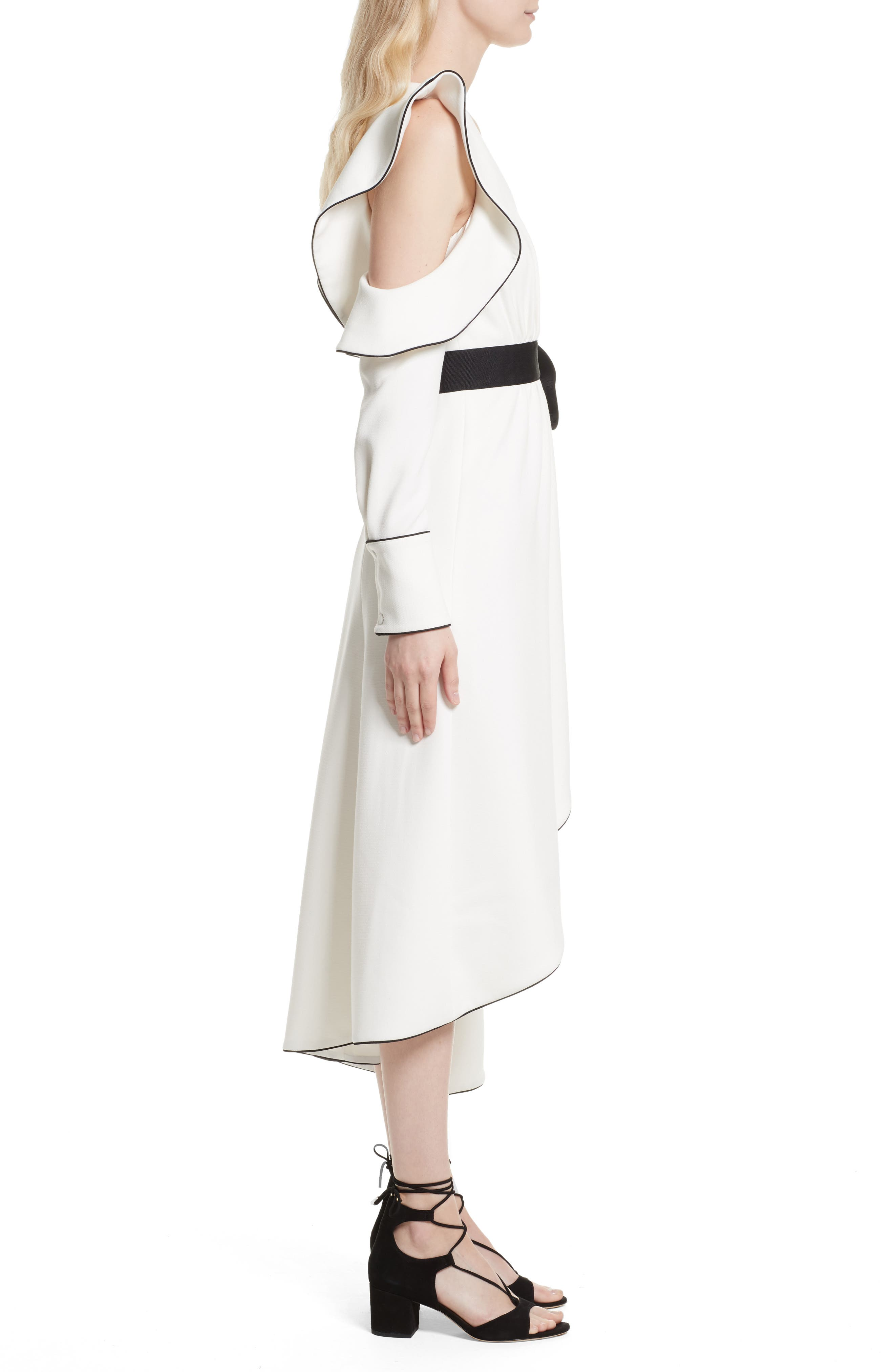 Alternate Image 3  - Self-Portrait Cold Shoulder Asymmetrical Dress