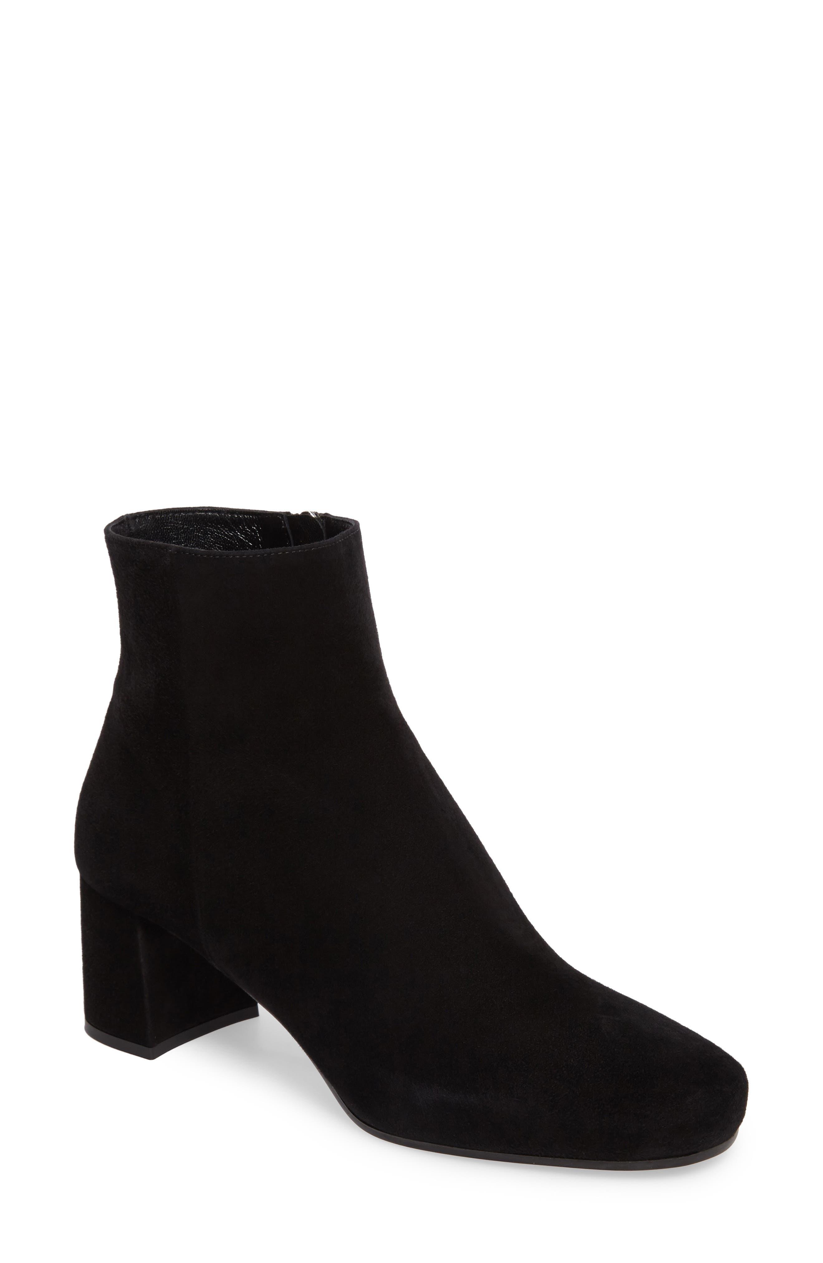 Block Heel Bootie,                         Main,                         color, Black