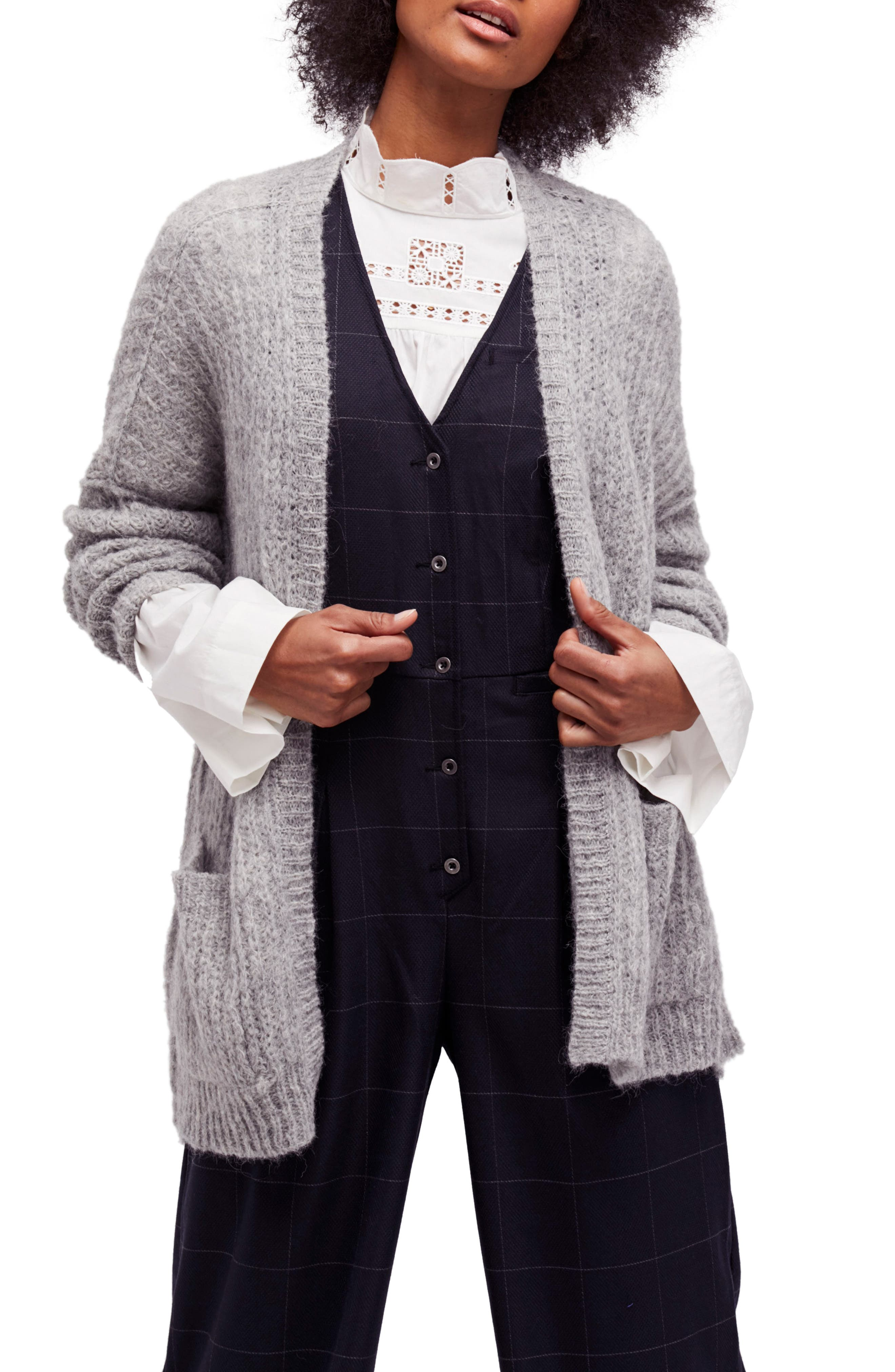 Weekend Getaway Cardigan,                         Main,                         color, Grey