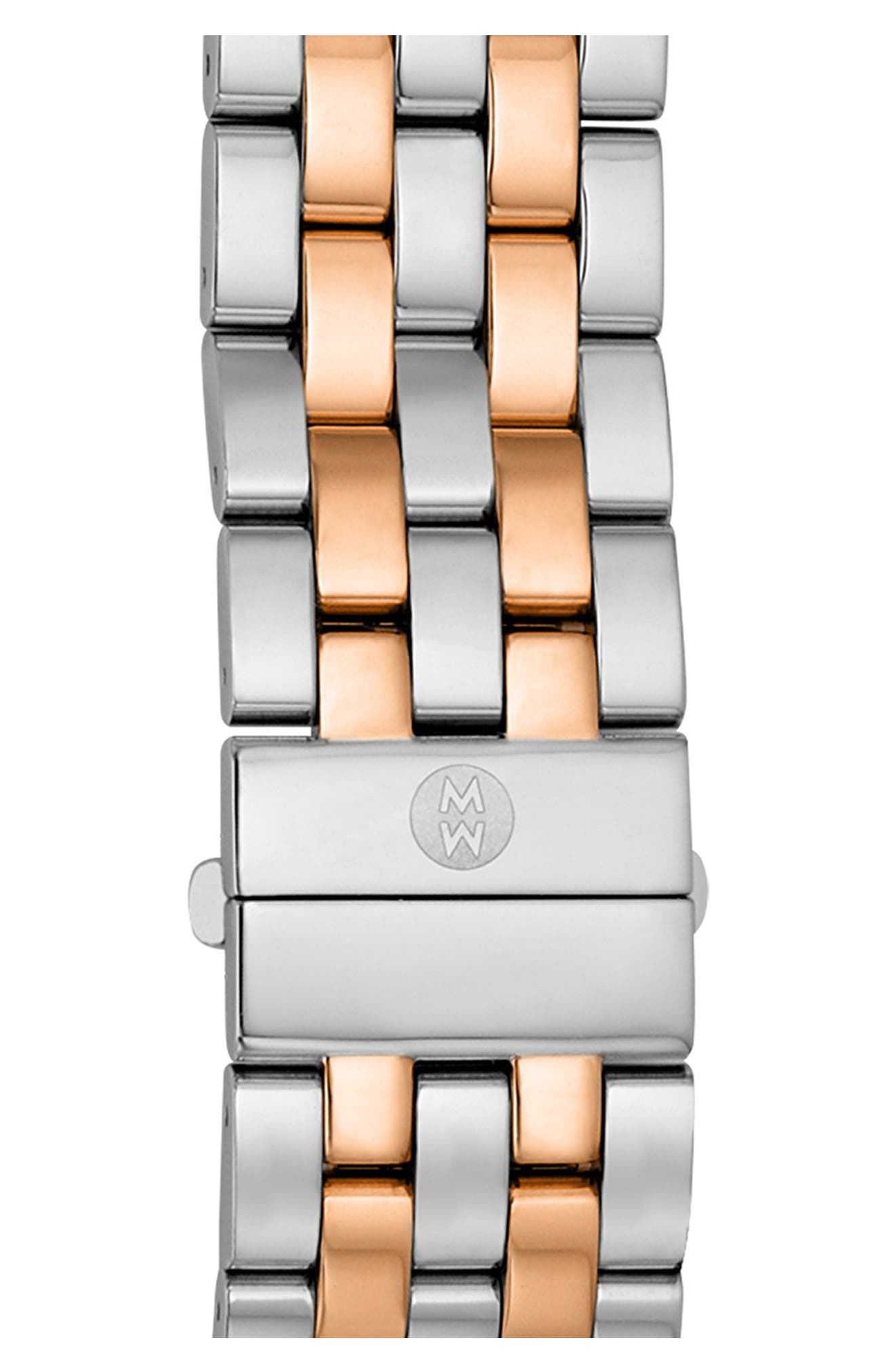 'Sport Sail' 18mm Bracelet Watchband,                         Main,                         color, Rose Gold/ Silver