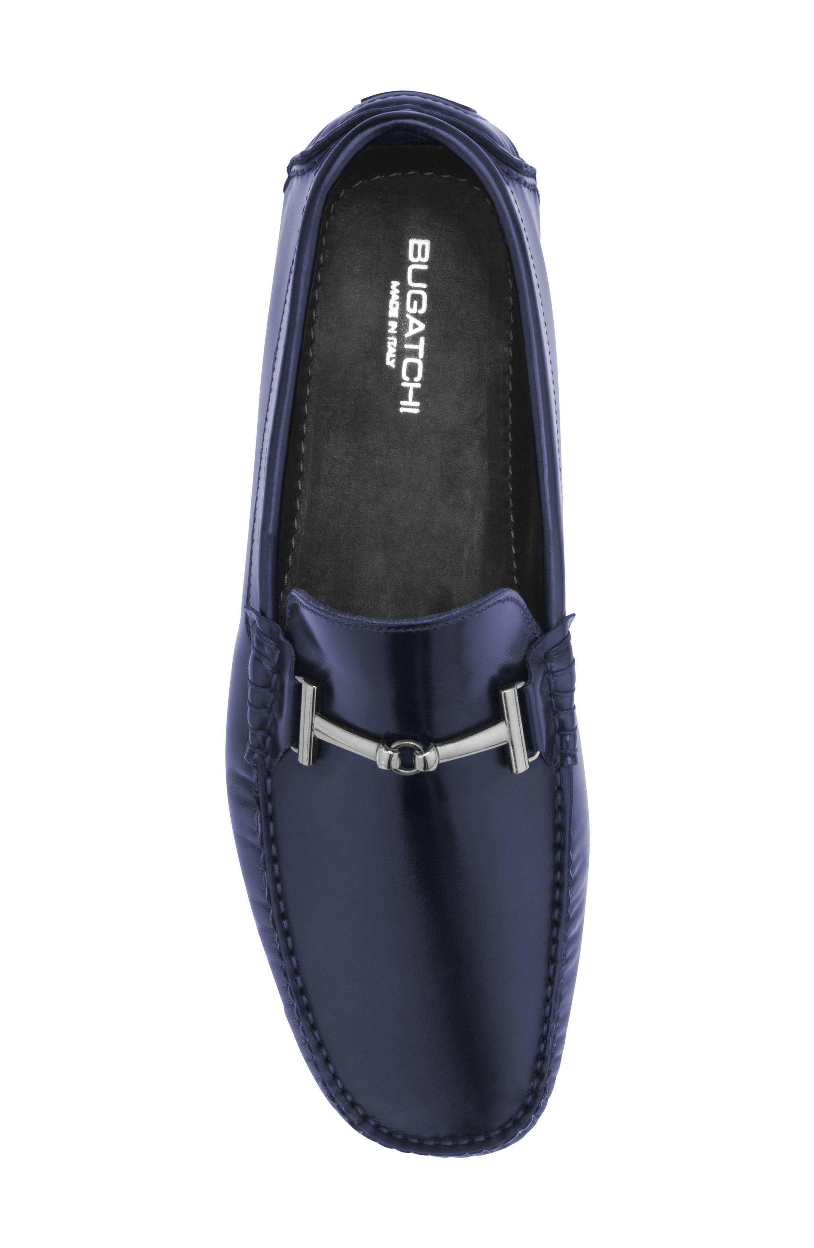 St. Tropez Driving Shoe,                             Alternate thumbnail 5, color,                             Blue Leather