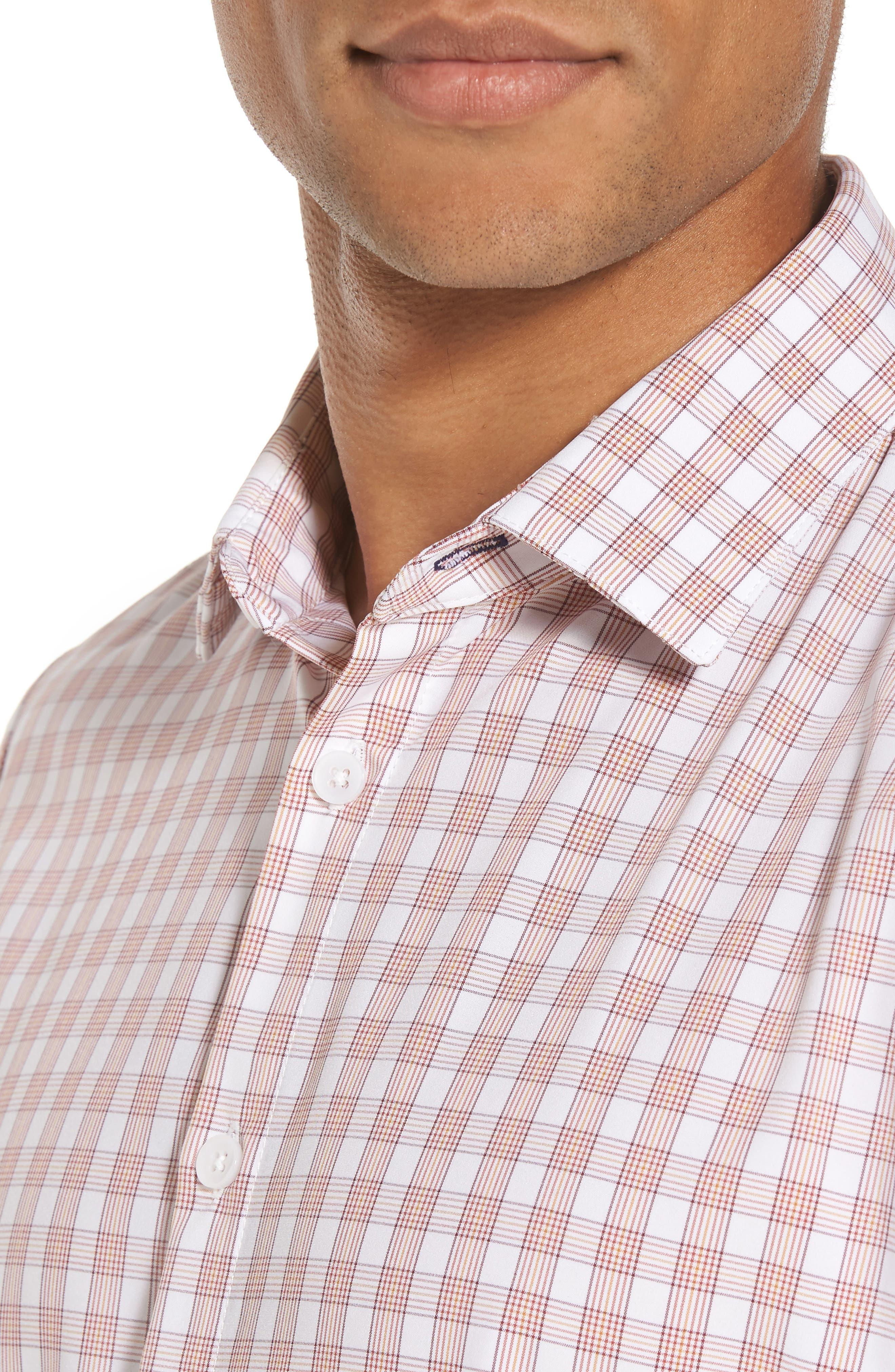 Alternate Image 4  - Mizzen+Main Barren Chilli & Gold Plaid Sport Shirt