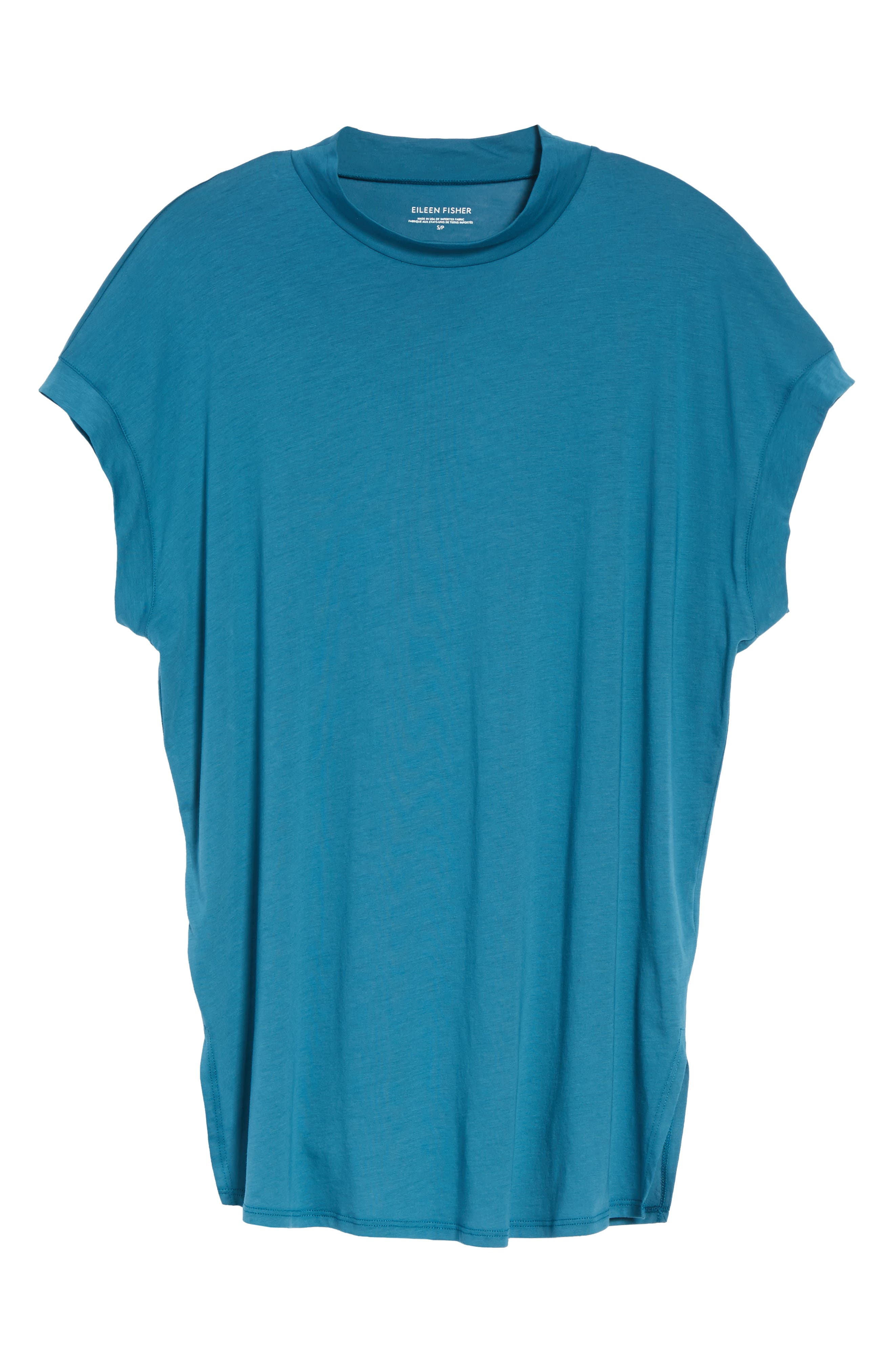 Slub Organic Cotton Top,                             Alternate thumbnail 6, color,                             Nile