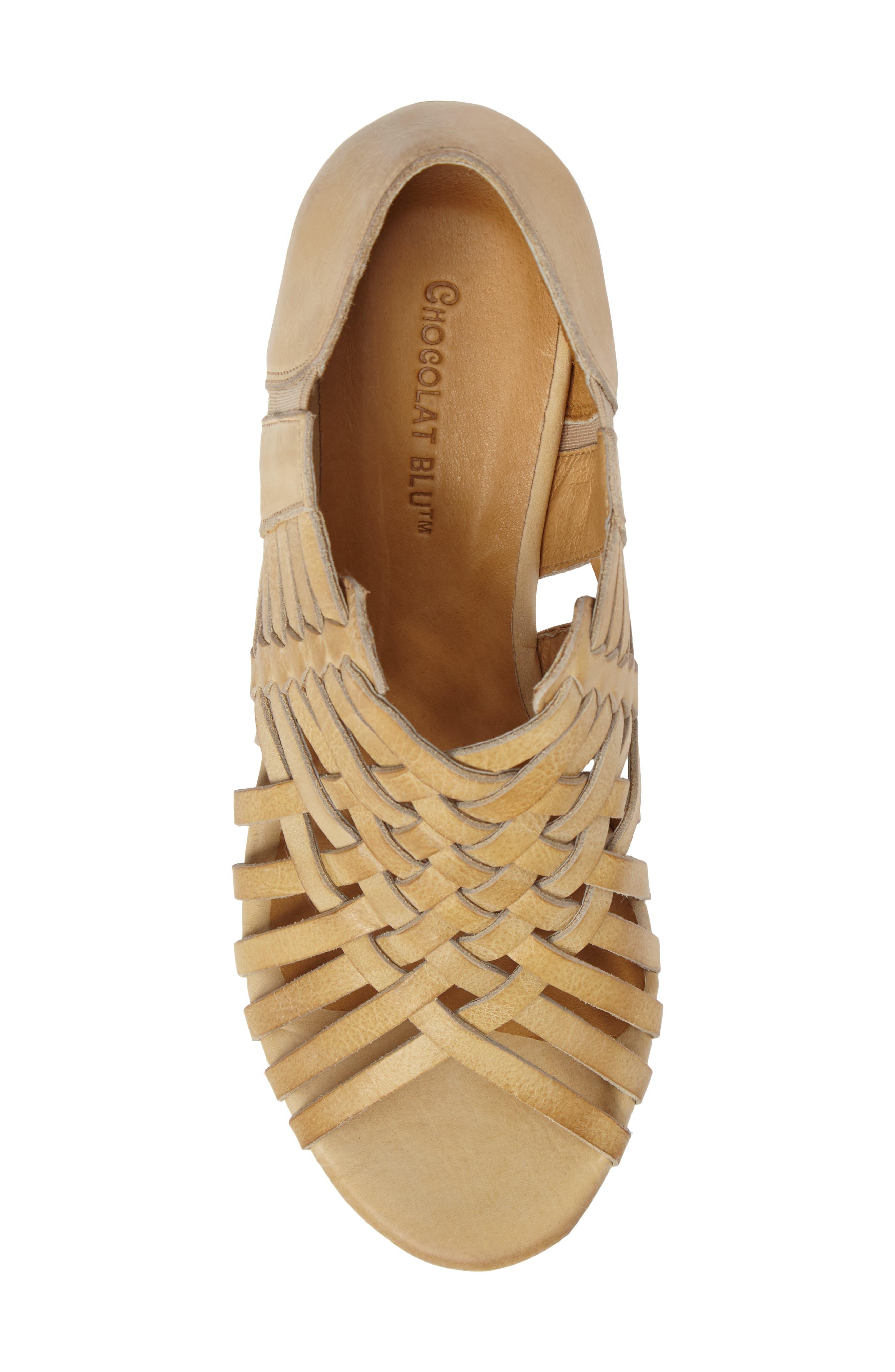 Vic Platform Sandal,                             Alternate thumbnail 4, color,                             Natural Leather