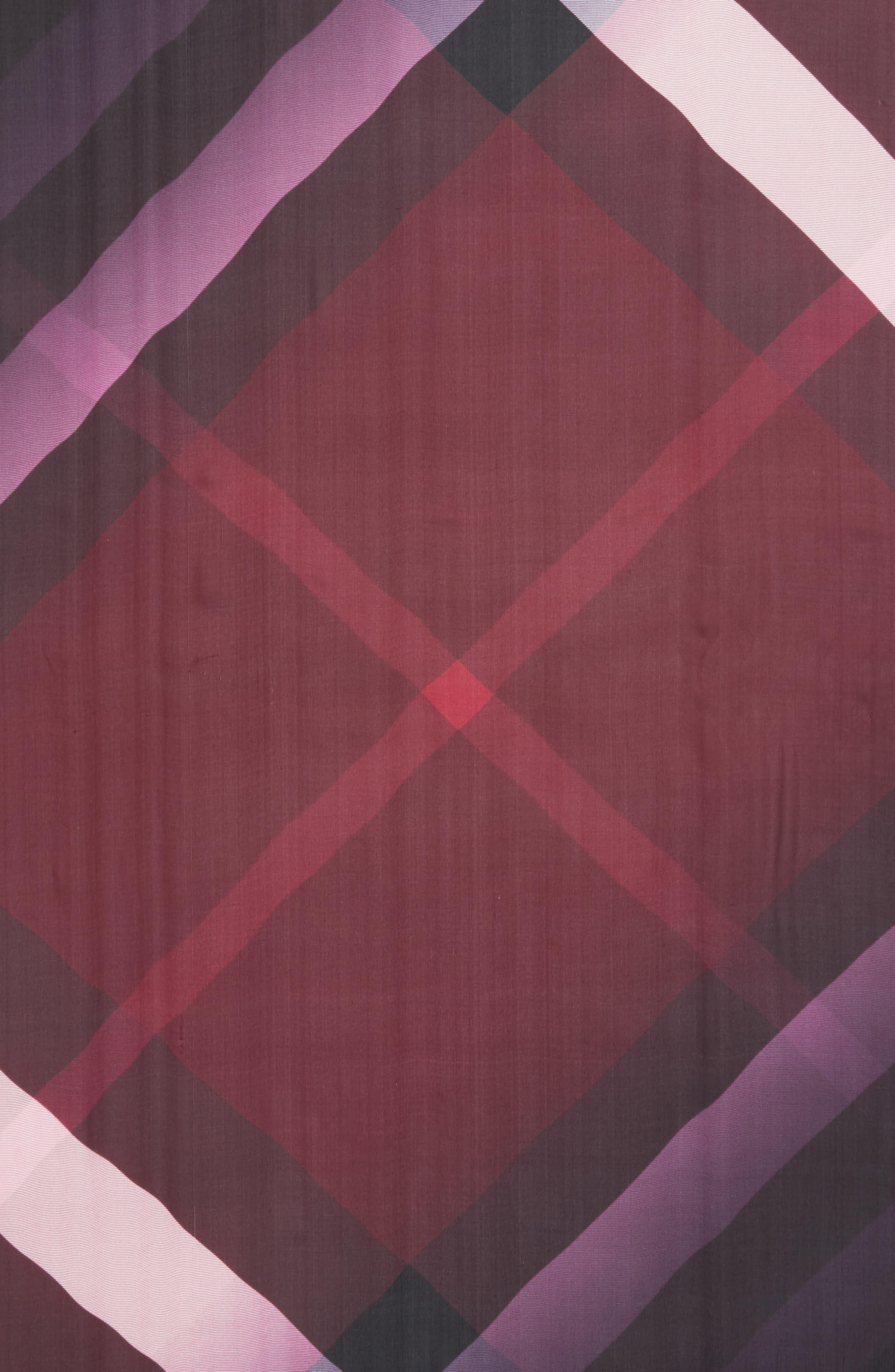 Alternate Image 4  - Burberry Ombré Check Silk Scarf