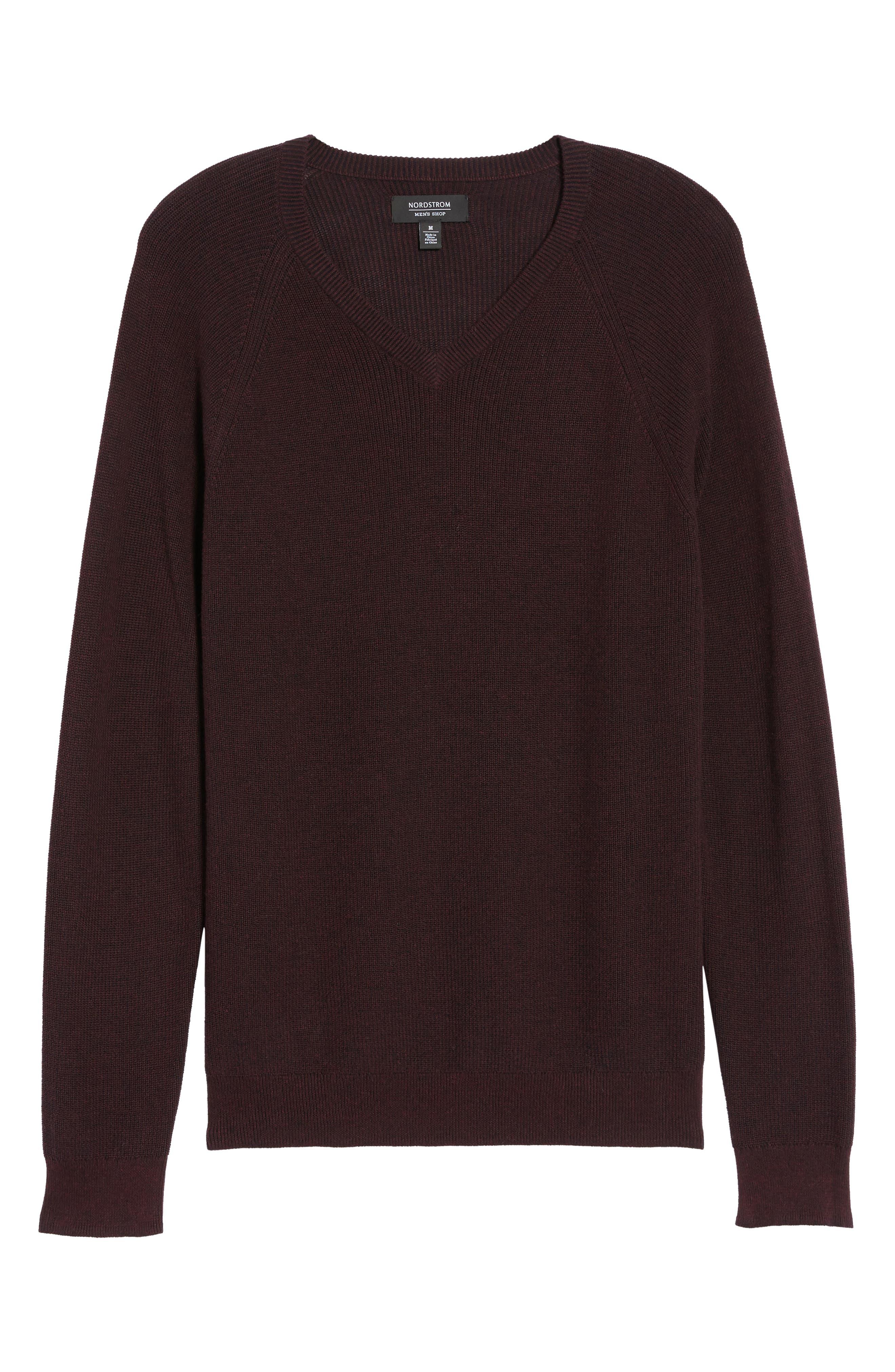 Alternate Image 6  - Nordstrom Men's Shop Supima® Cotton V-Neck Sweater