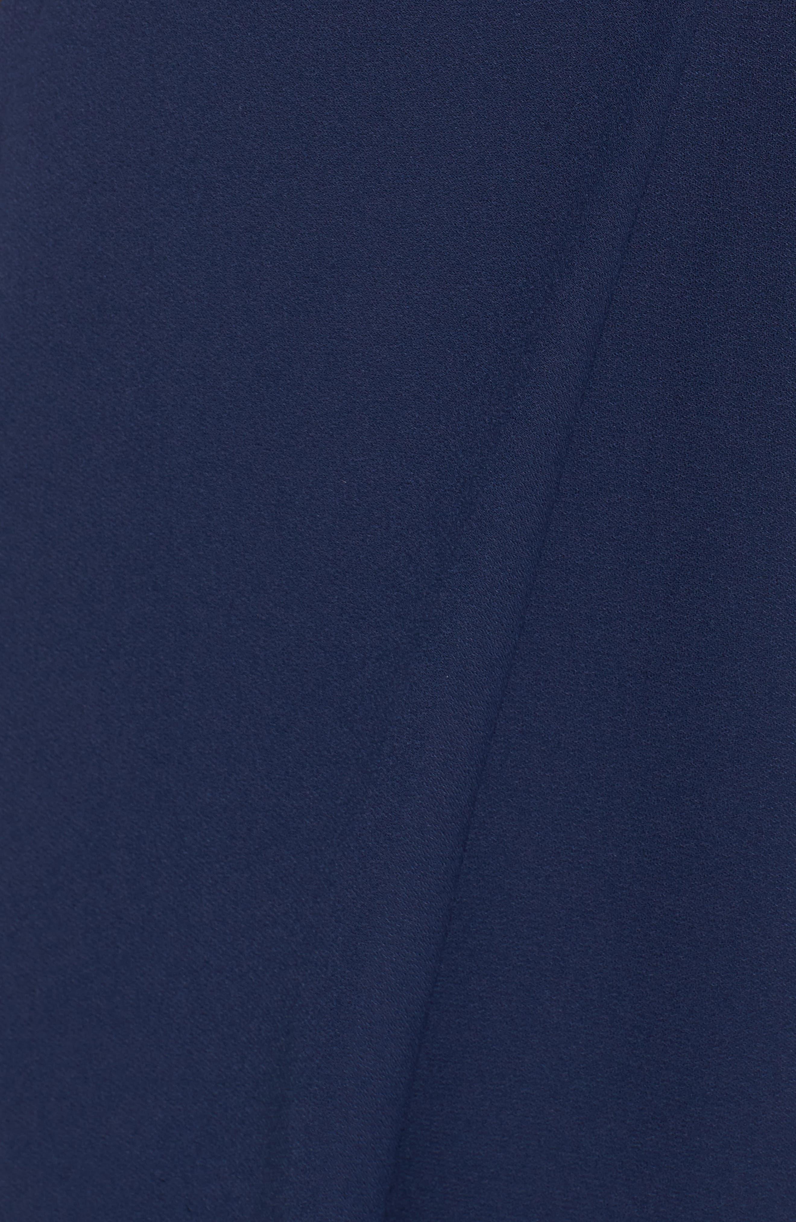 Strapless Crepe Minidress,                             Alternate thumbnail 5, color,                             Navy
