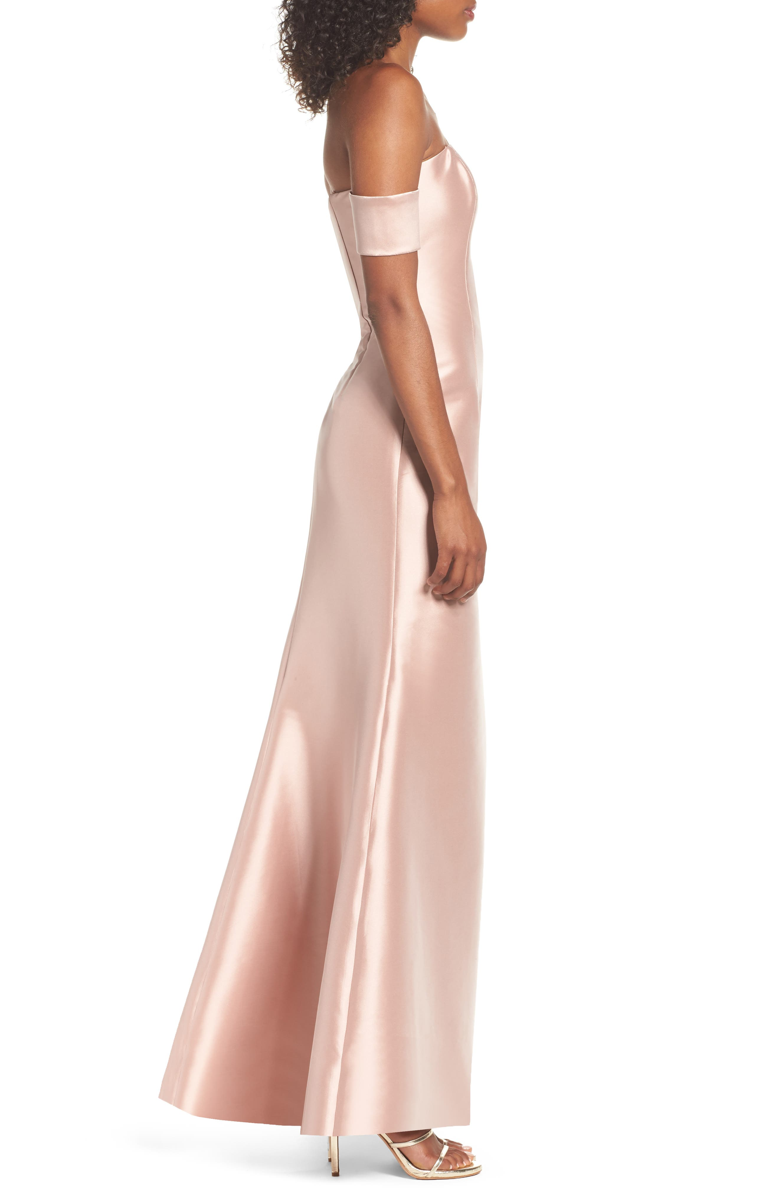 Victoria Mermaid Gown,                             Alternate thumbnail 3, color,                             Blush