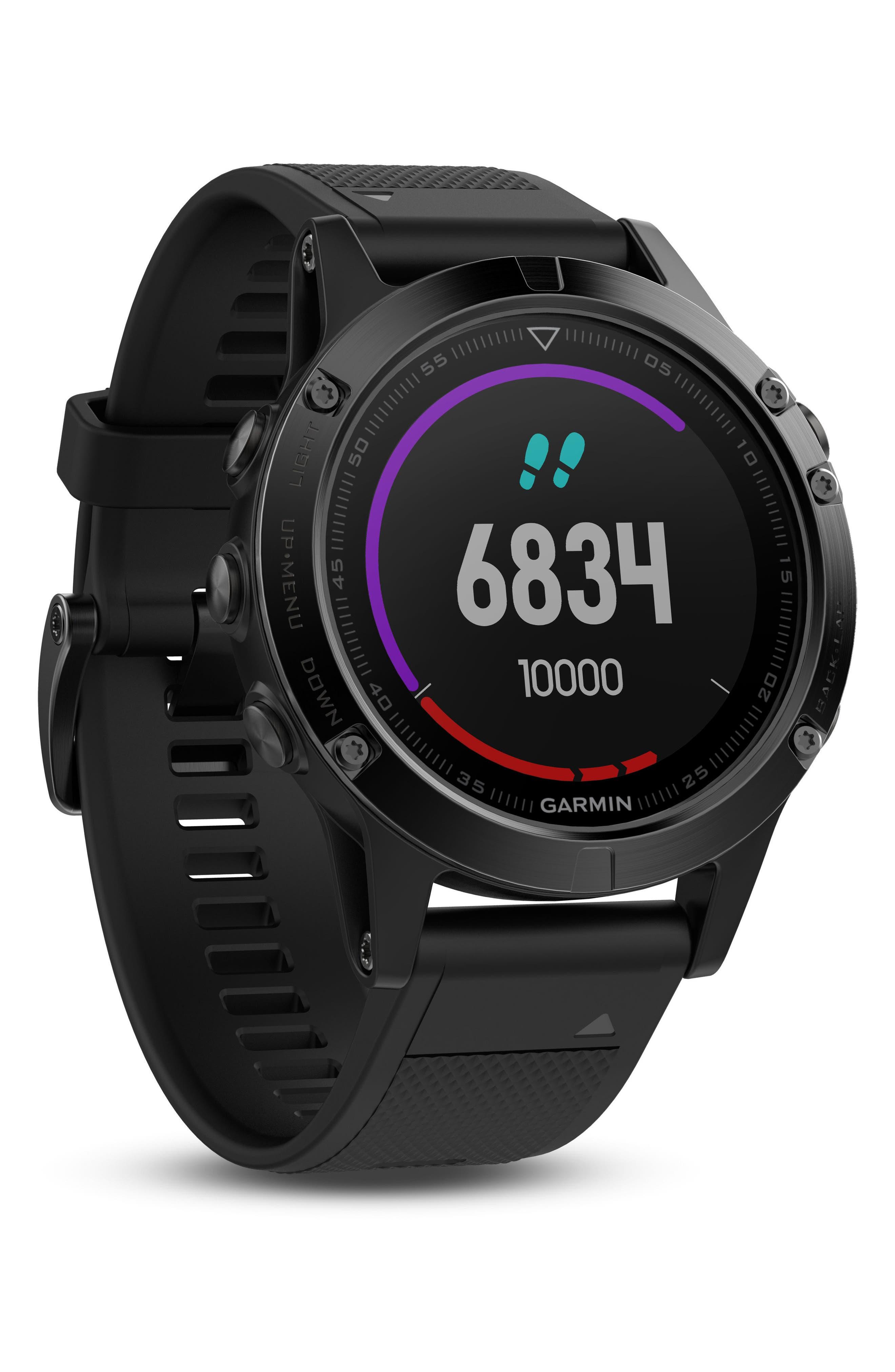Alternate Image 9  - Garmin Fenix 5 Multisport GPS Smart Tracker Watch, 47mm
