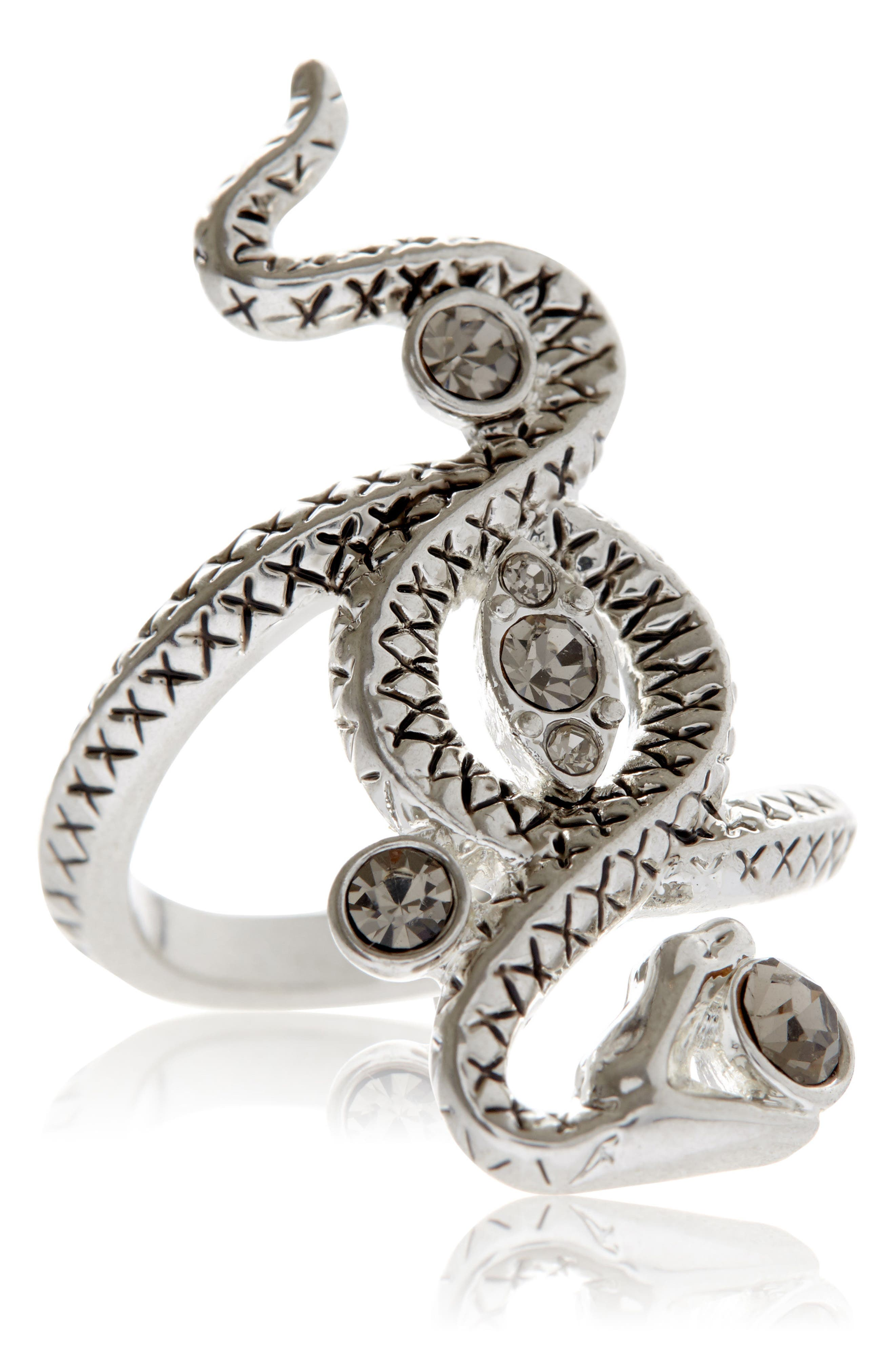 Twisted Serpent Ring,                         Main,                         color, Silver