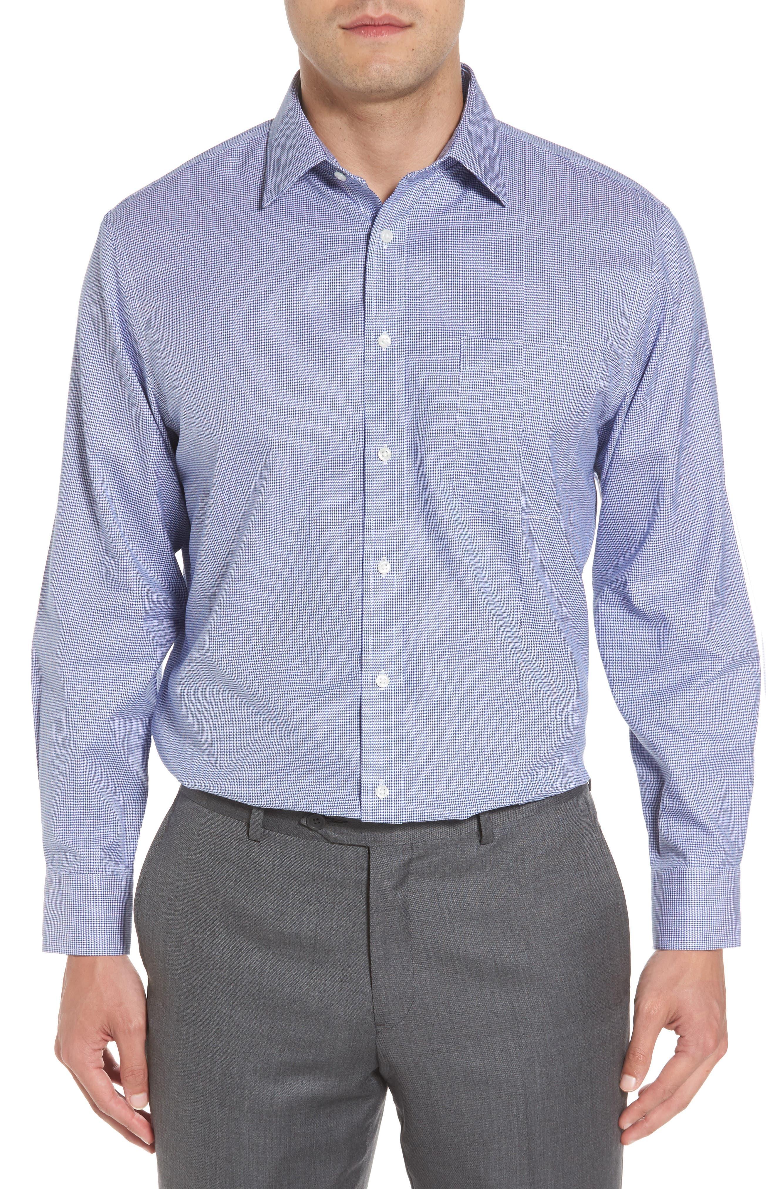 Smartcare<sup>™</sup> Traditional Fit Stripe Dress Shirt,                             Alternate thumbnail 2, color,                             Blue Marine