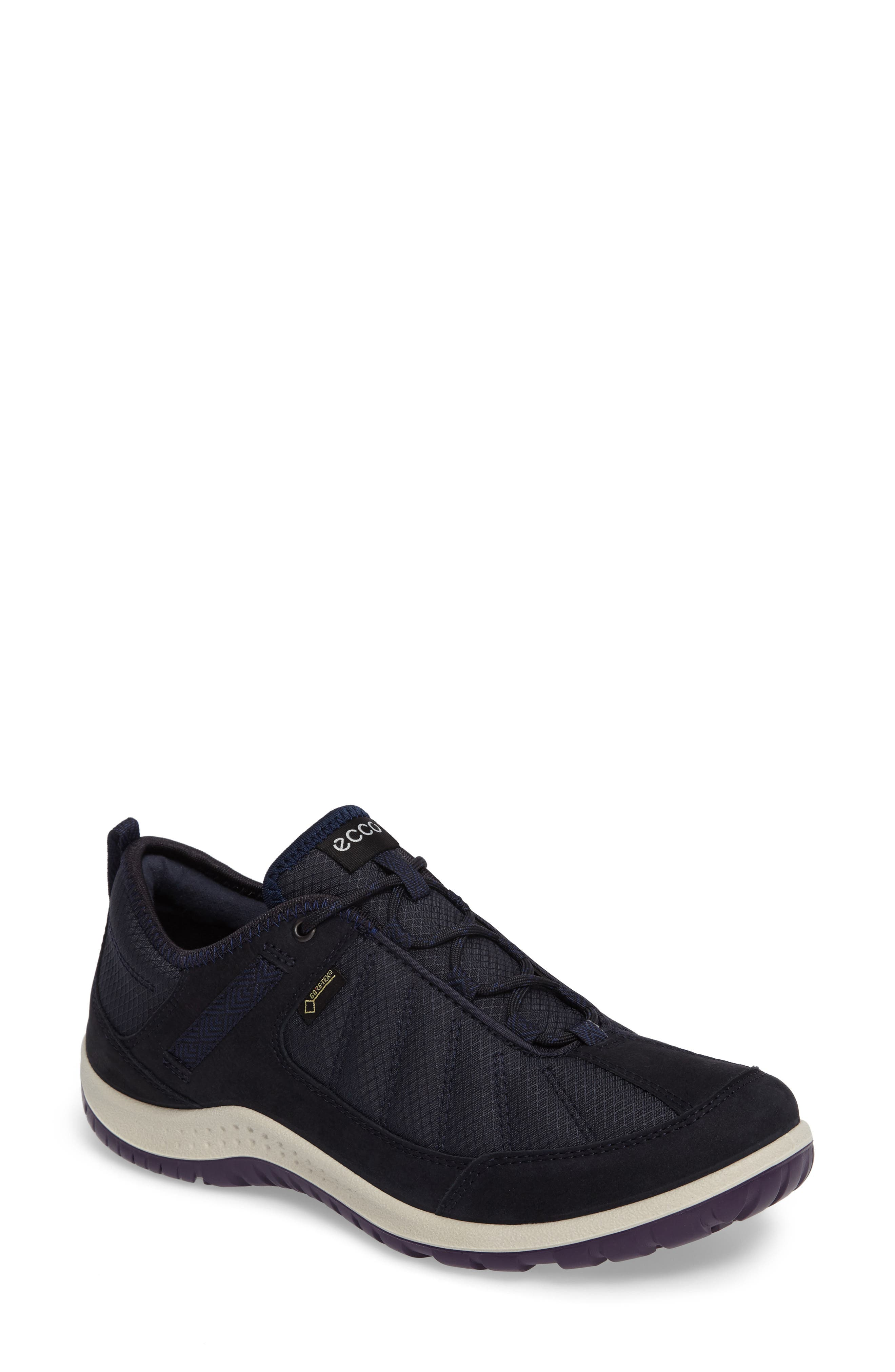 Aspina GTX Waterproof Sneaker,                             Main thumbnail 1, color,                             Navy Leather