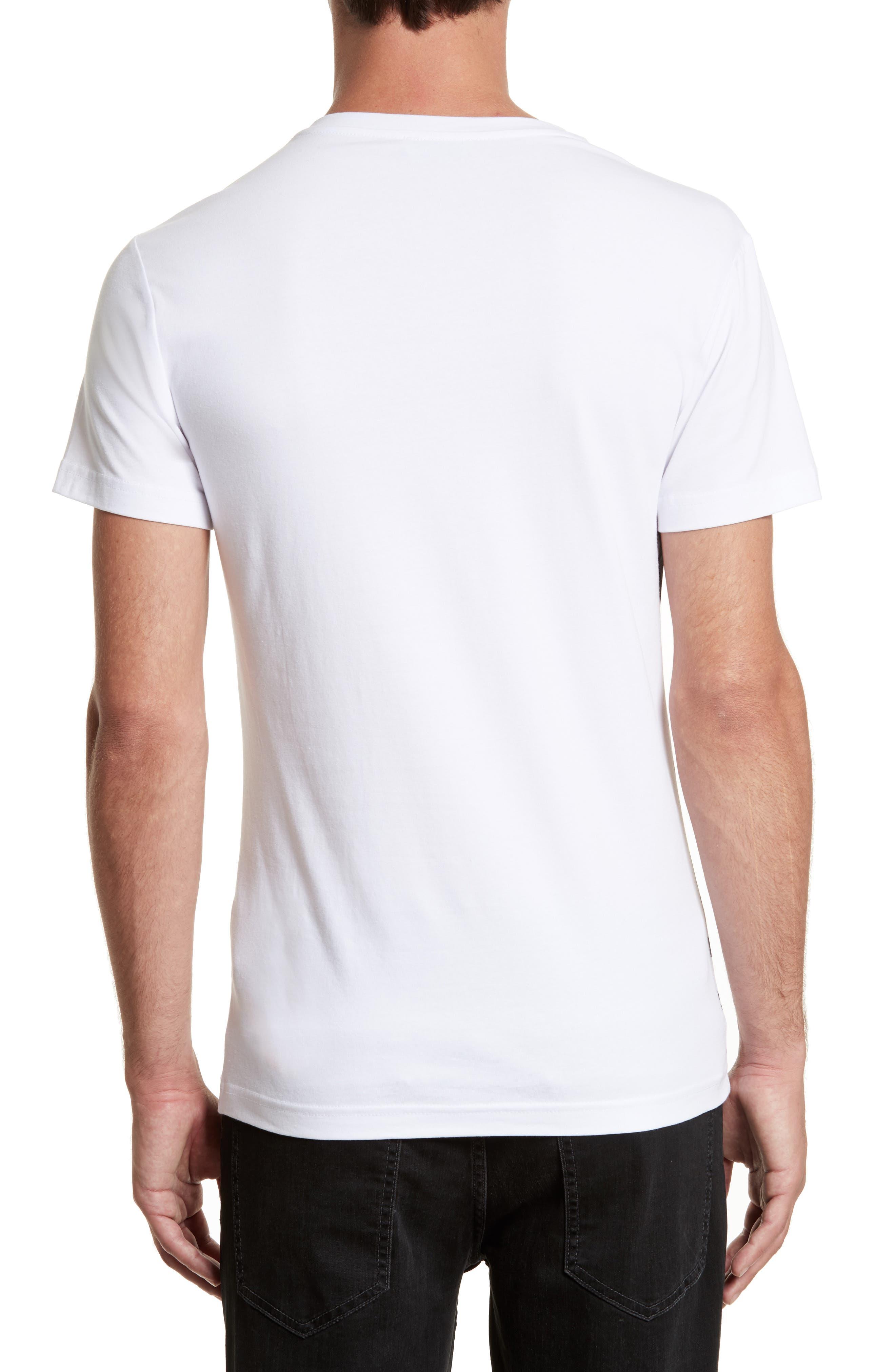 Print T-Shirt,                             Alternate thumbnail 2, color,                             White/ Grey
