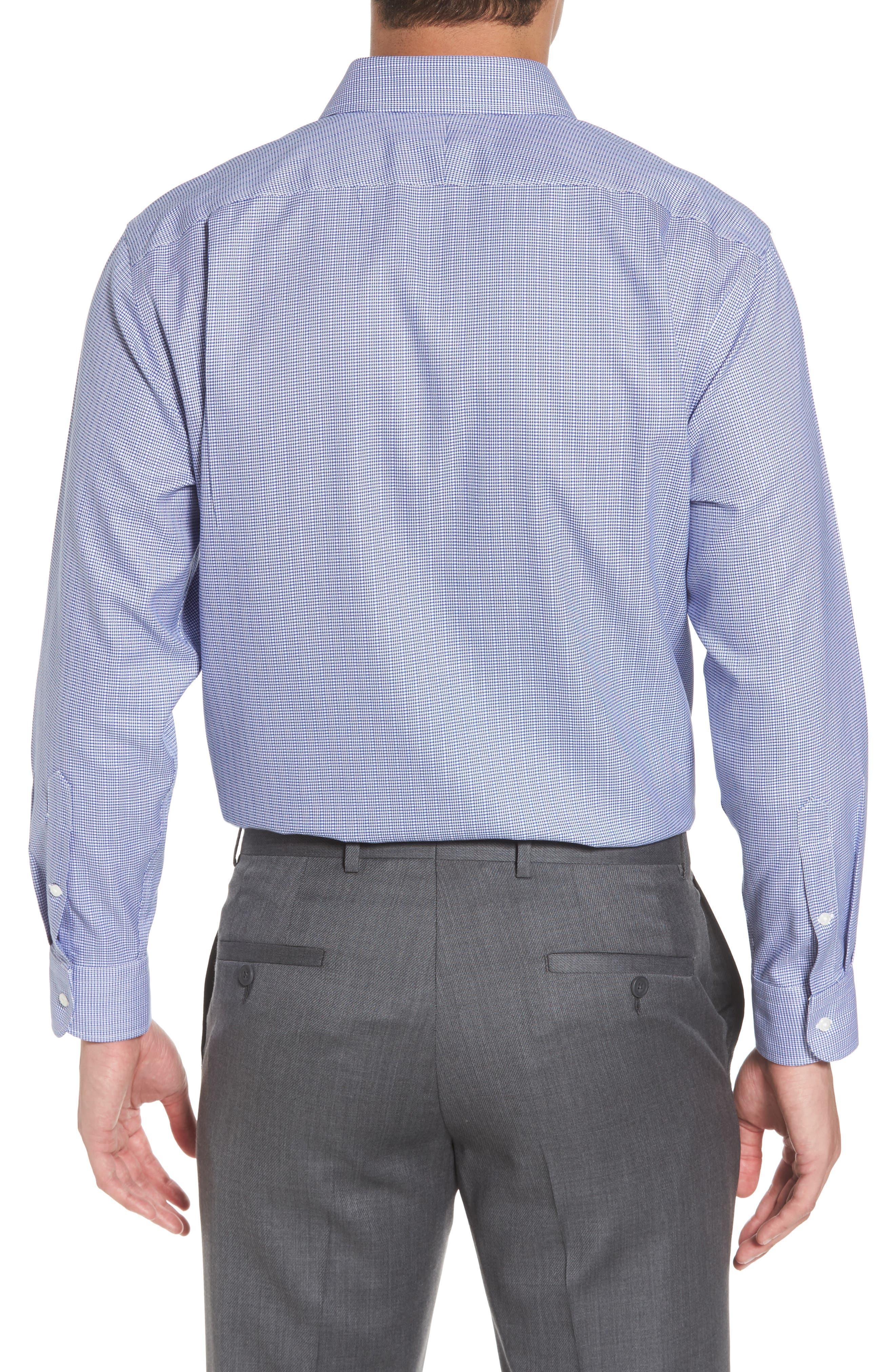 Smartcare<sup>™</sup> Traditional Fit Stripe Dress Shirt,                             Alternate thumbnail 3, color,                             Blue Marine