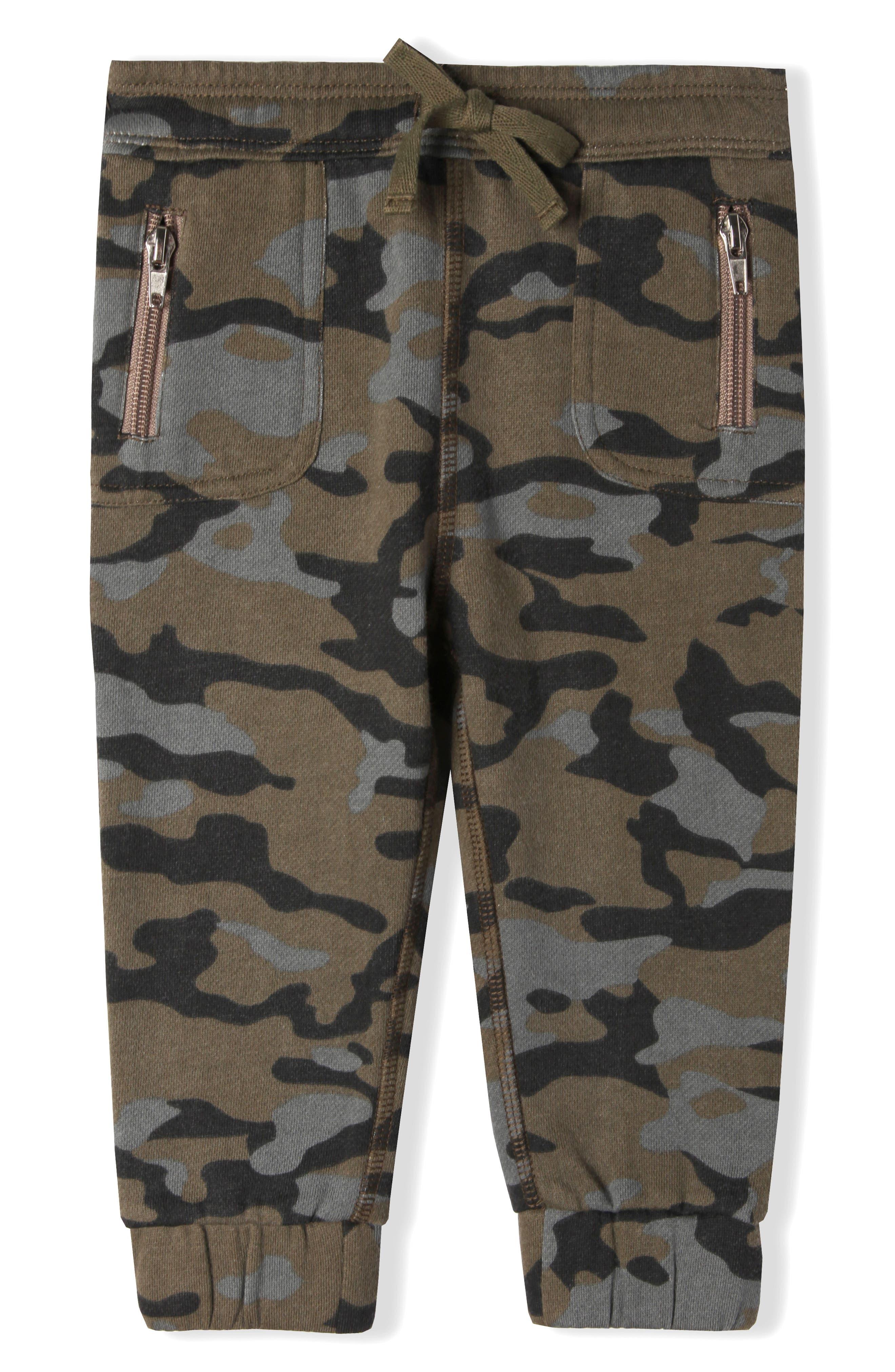 Mini Grand Organic Cotton Jogger Pants,                         Main,                         color, Army Camo