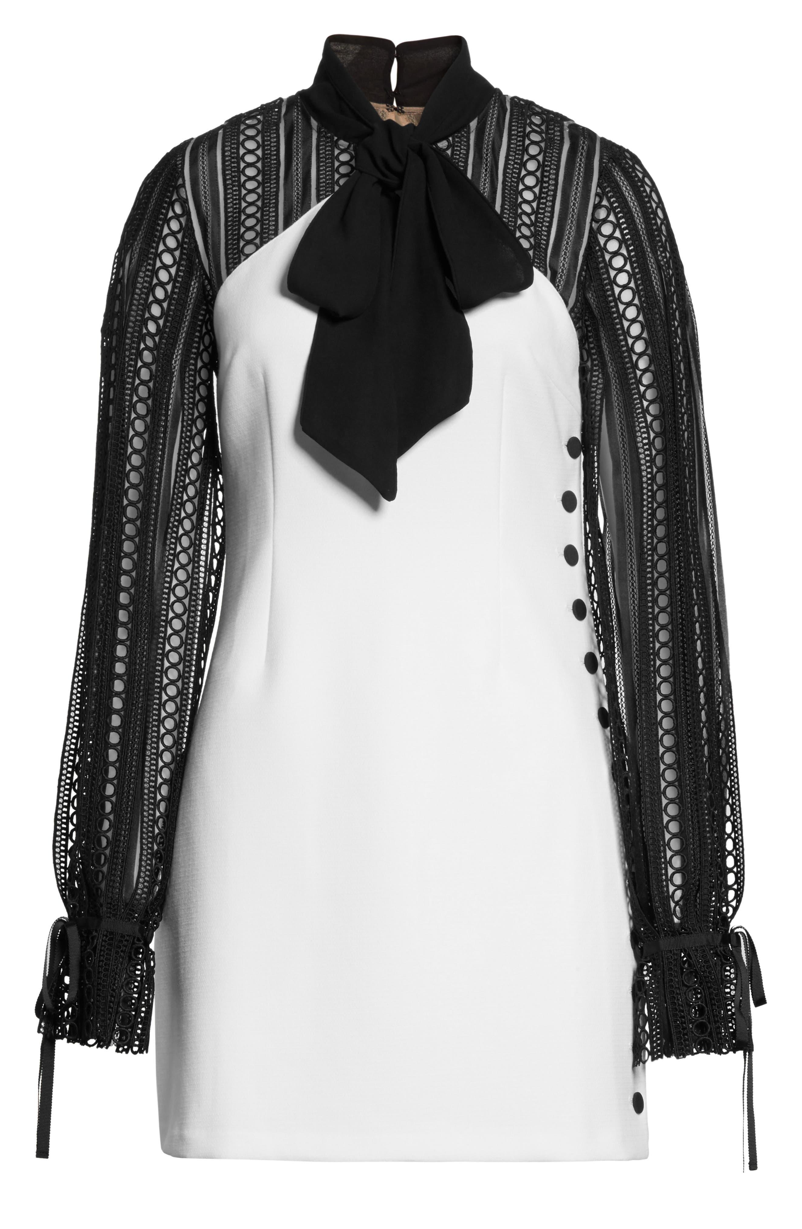 Alternate Image 6  - Self-Portrait Lace Sleeve Minidress