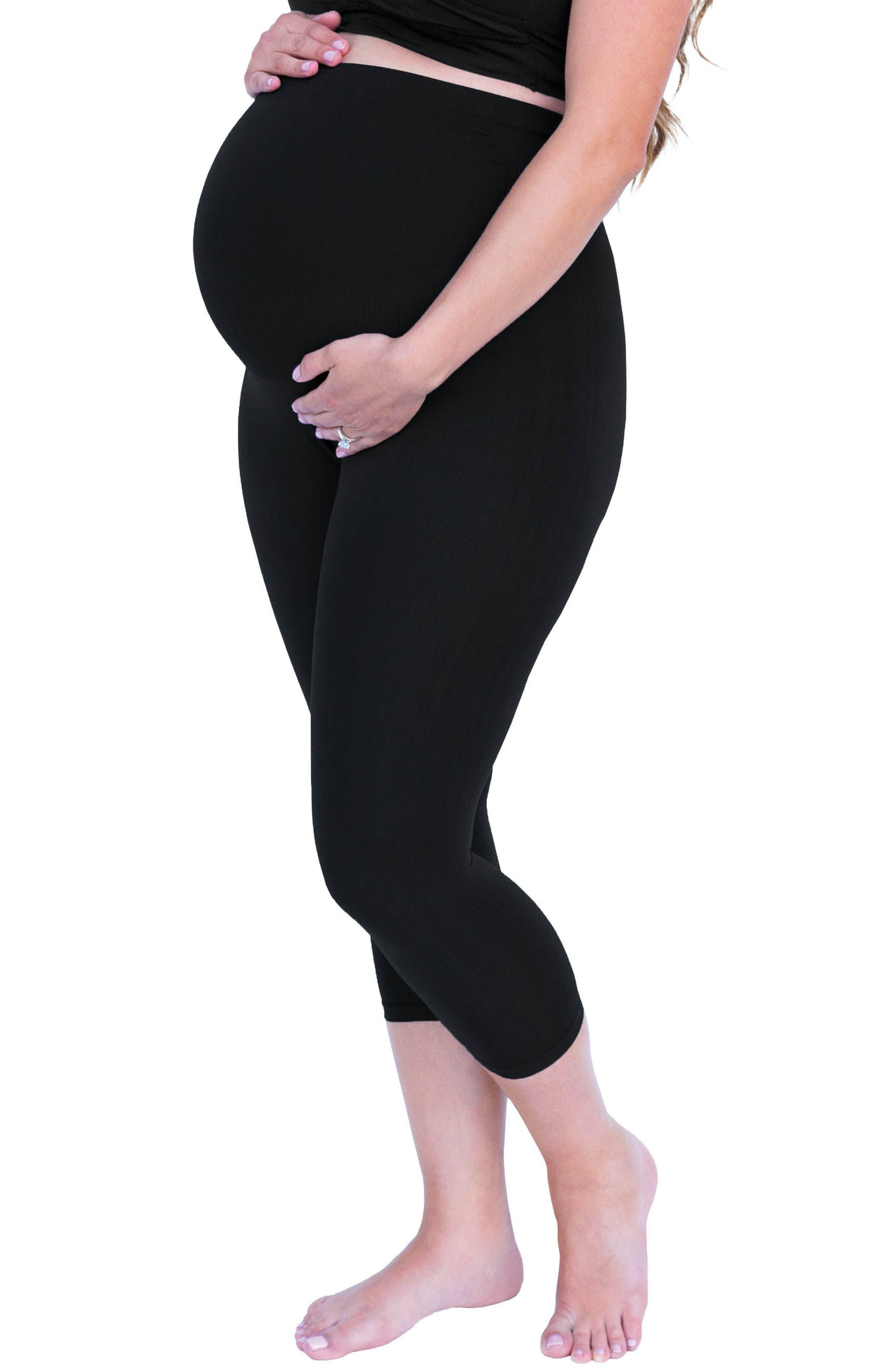 Bump Support<sup>™</sup> Capri Leggings,                         Main,                         color, Black