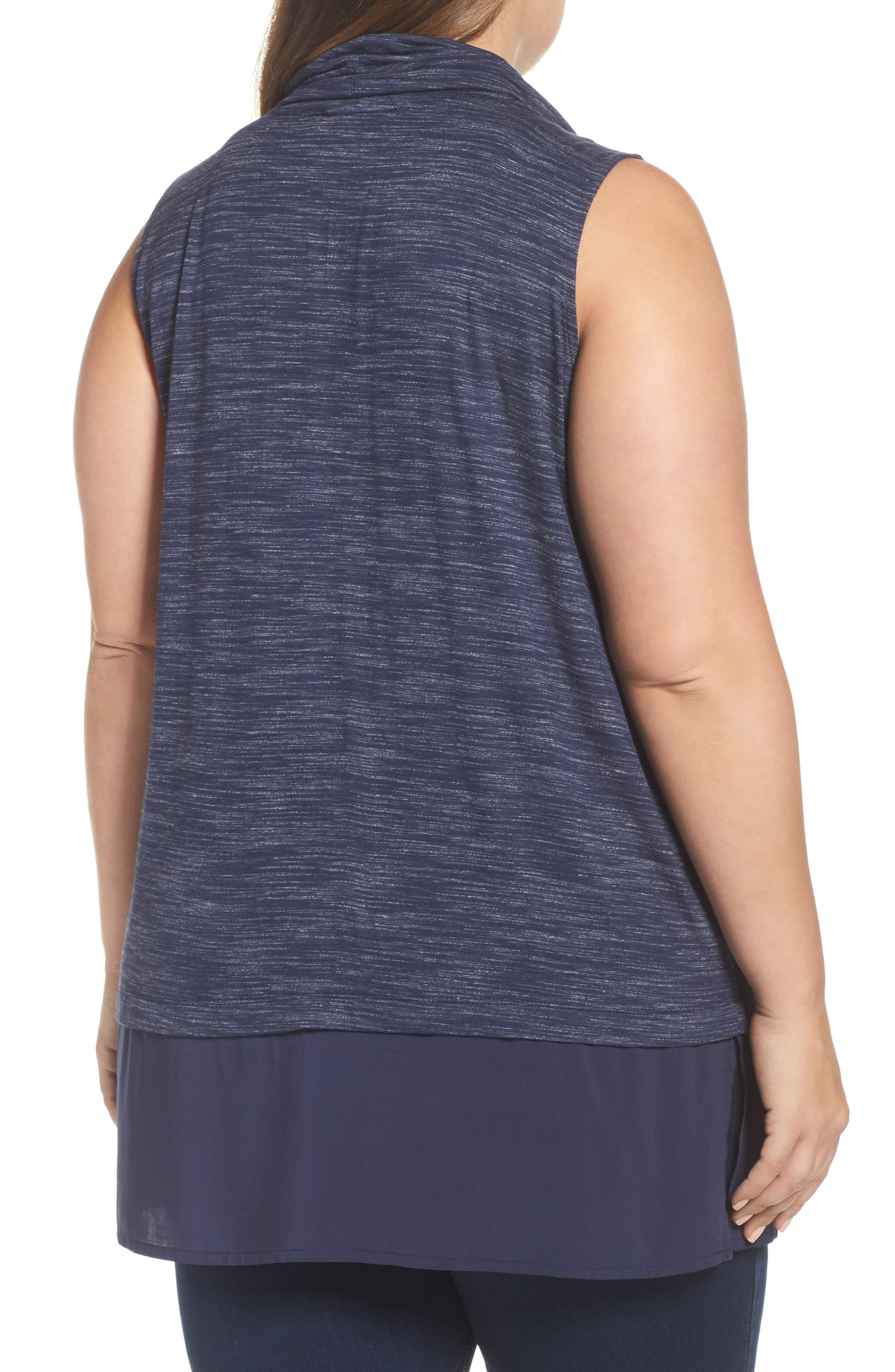 Alternate Image 2  - Two by Vince Camuto Space Dyed Cowl Neck Tank