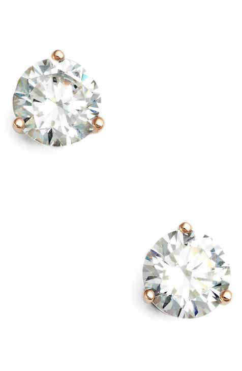 Nordstrom 2ct Tw Cubic Zirconia Earrings