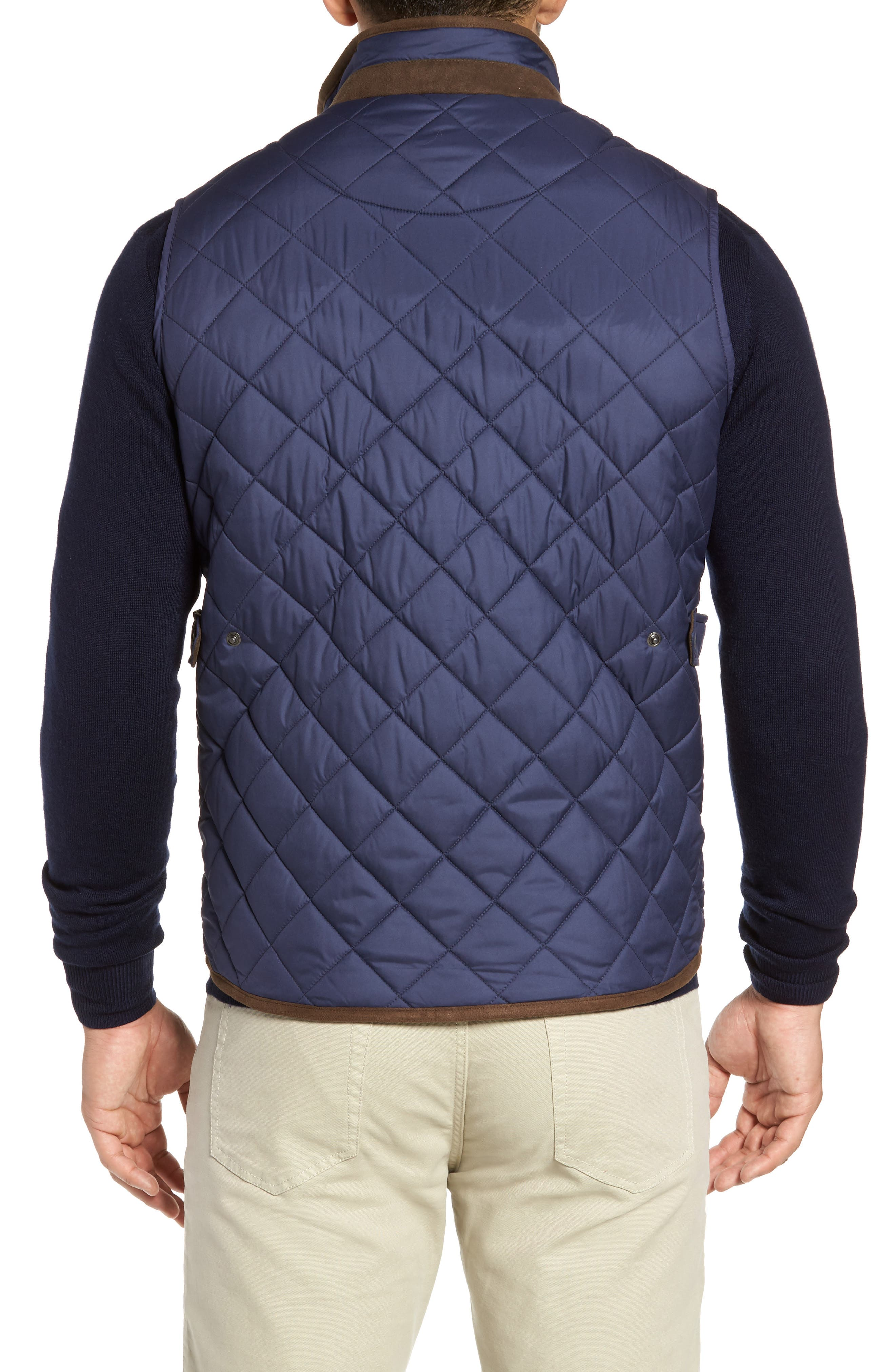 Essex Quilted Vest,                             Alternate thumbnail 2, color,                             Perfect Navy