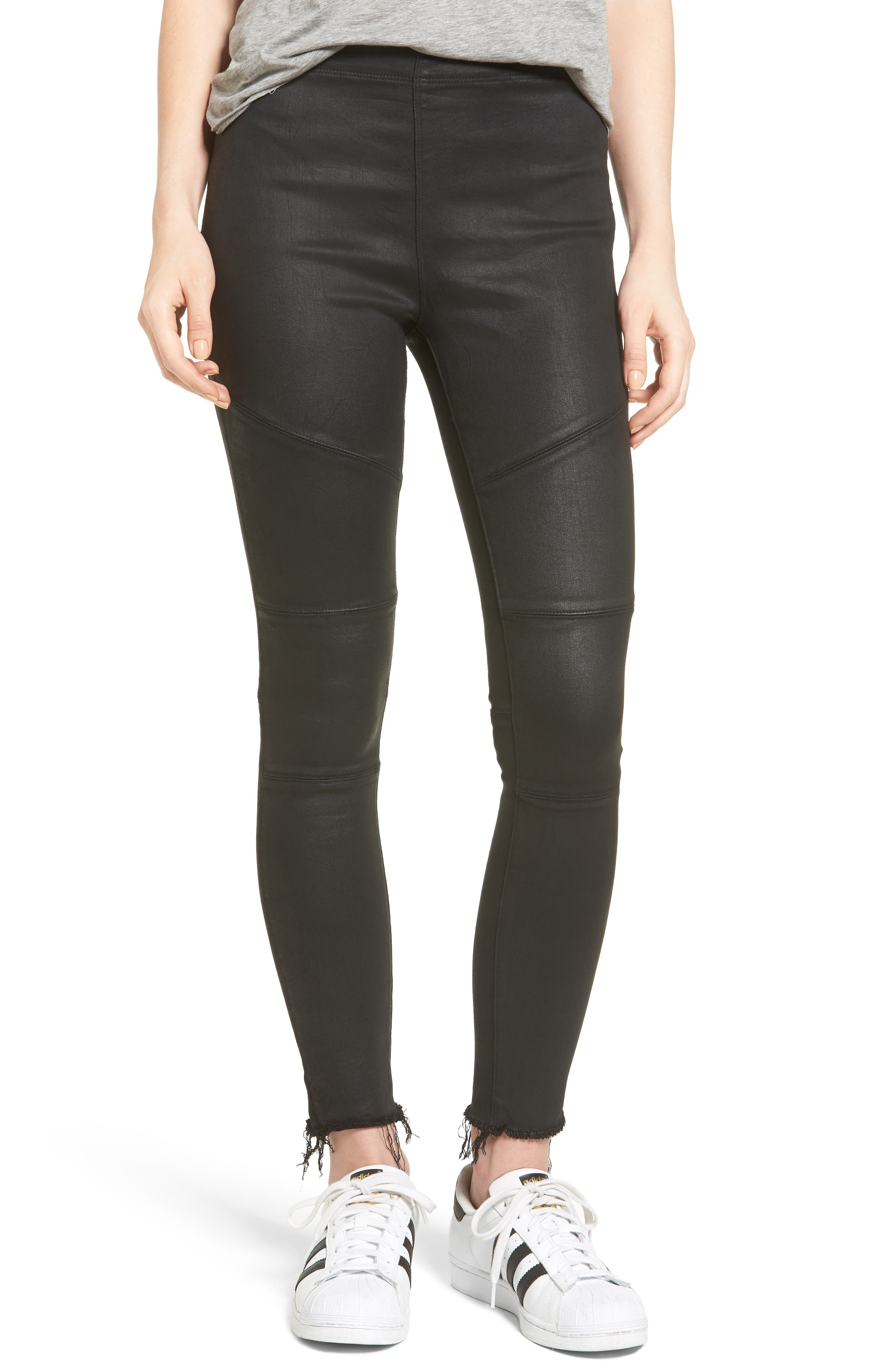 Haven Coated Denim Leggings,                             Main thumbnail 1, color,                             Asphalt