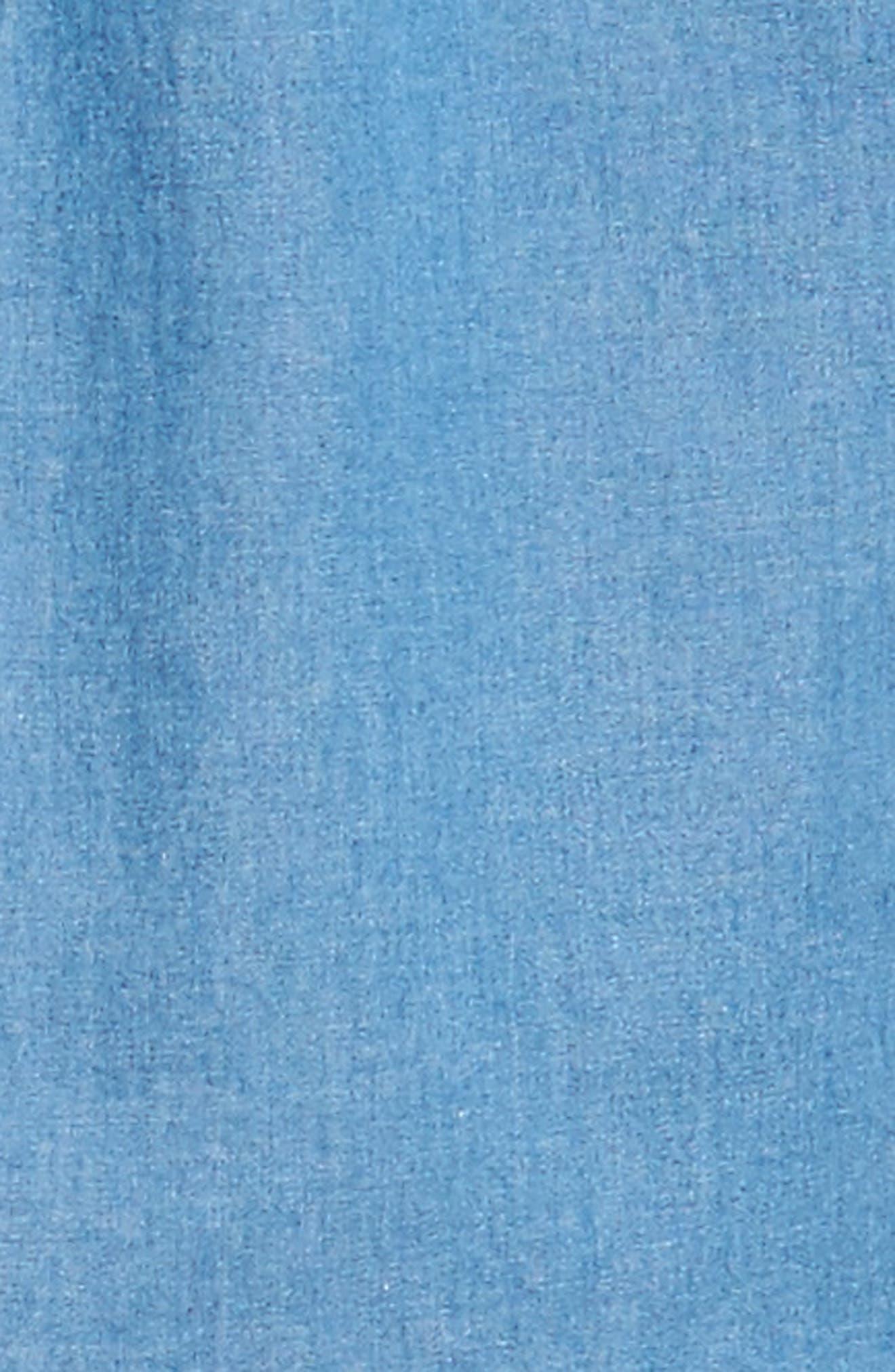 Crown Vintage Regular Fit Denim Sport Shirt,                             Alternate thumbnail 5, color,                             Indigo