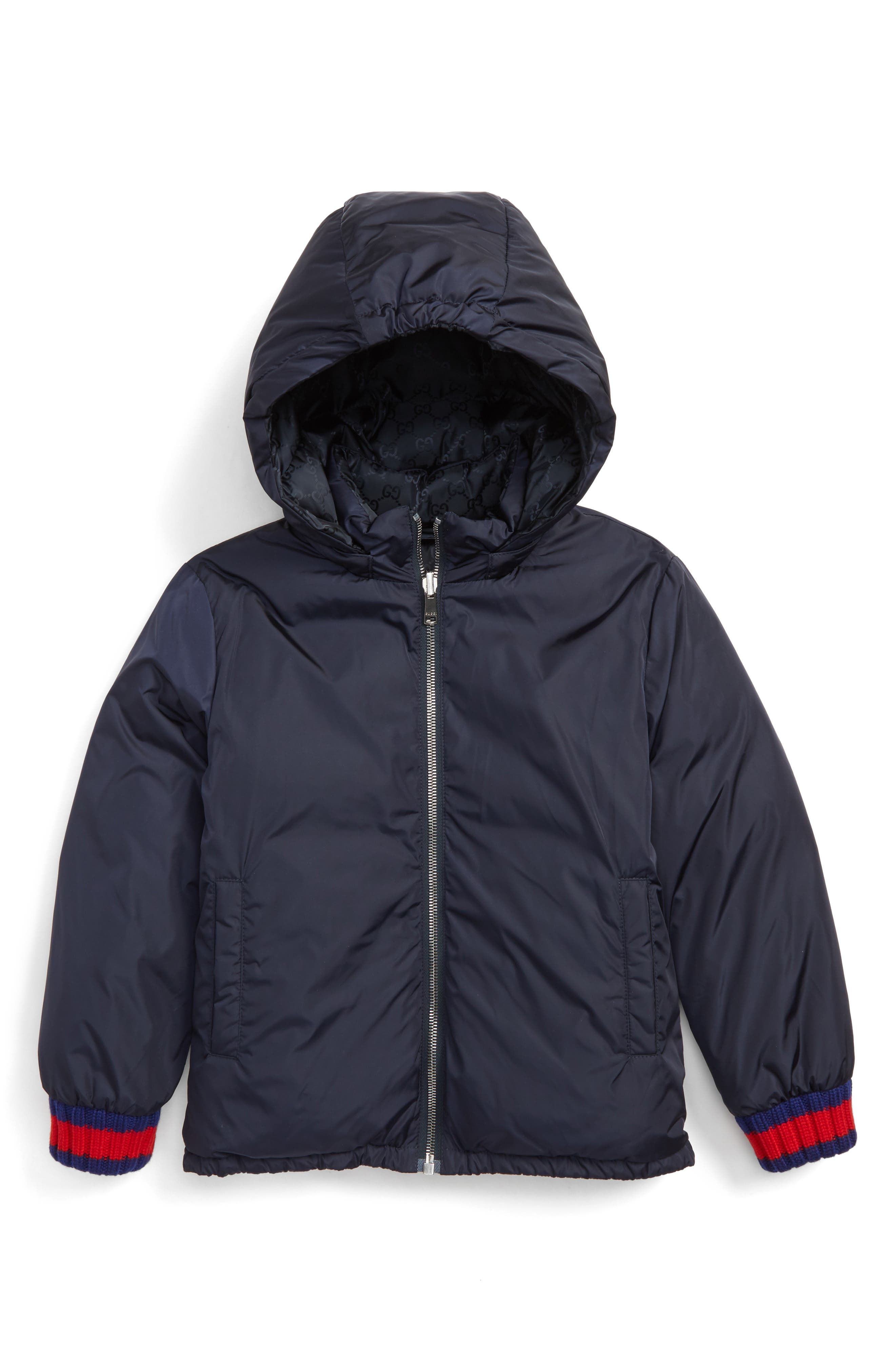 GUCCI Hooded Nylon Down Jacket