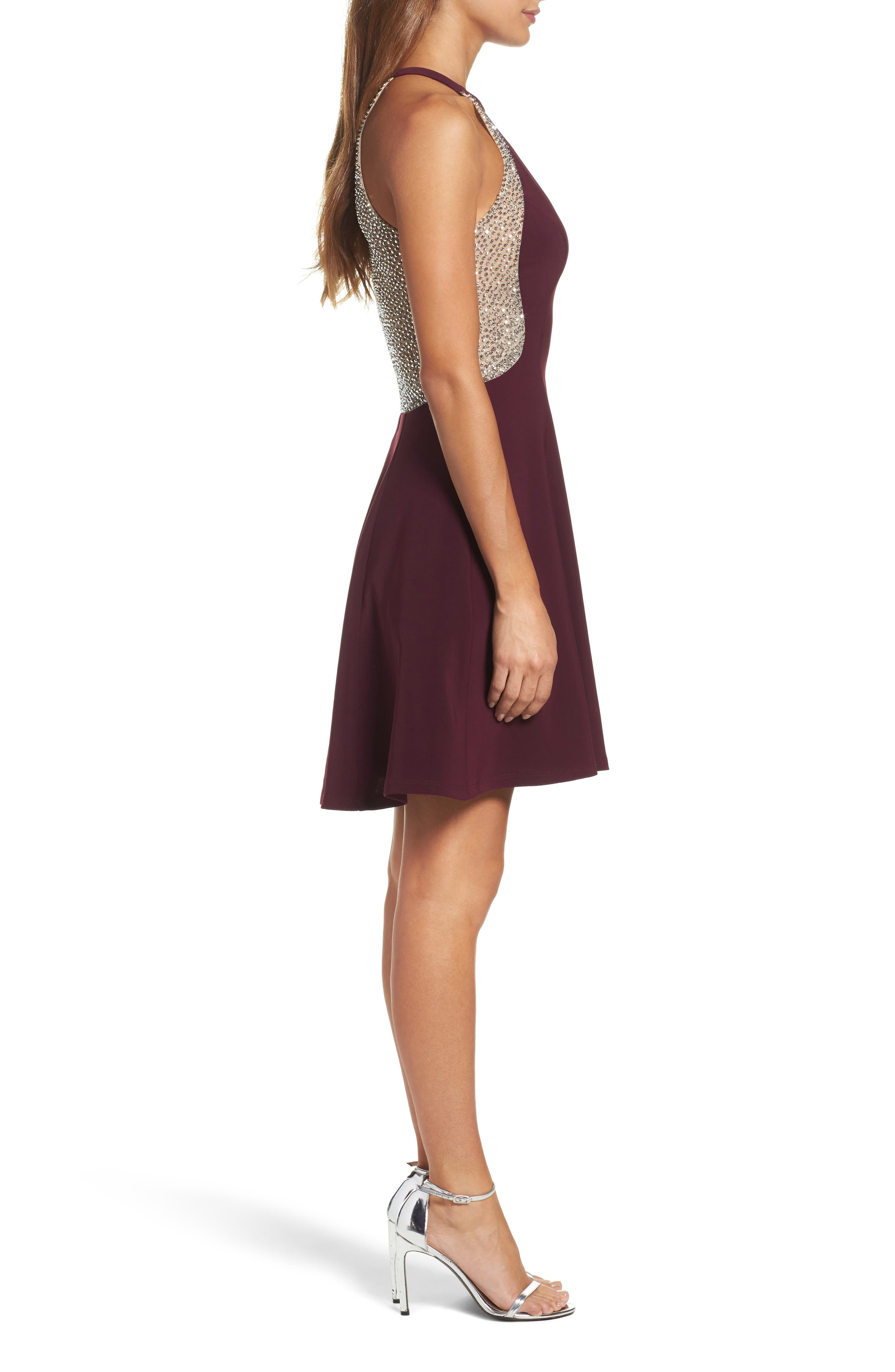 Alternate Image 3  - Xscape Beaded Jersey Party Dress