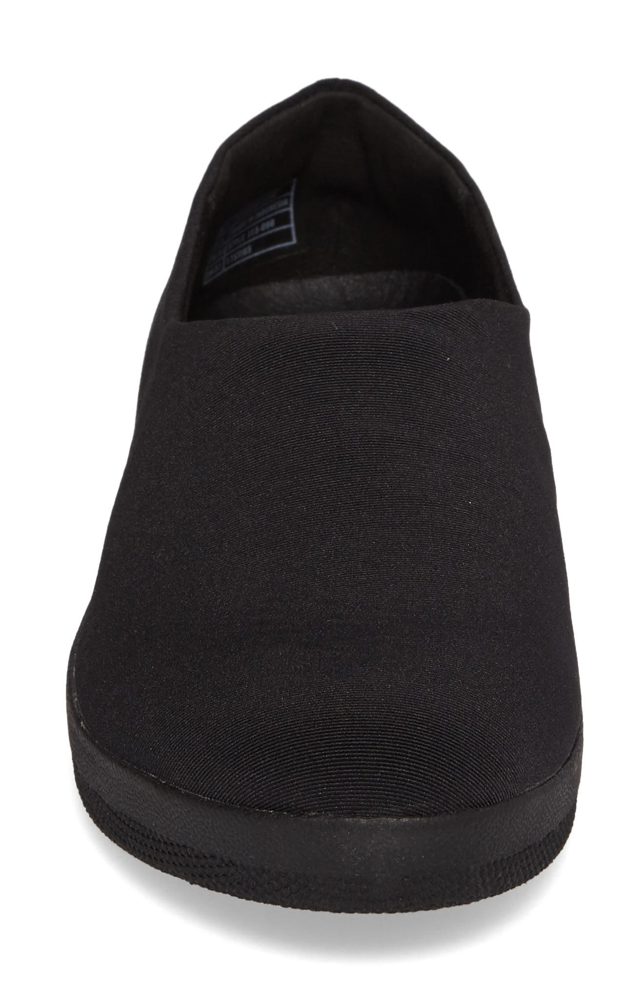 Superstretch Bobby Loafer,                             Alternate thumbnail 4, color,                             All Black Faux Leather
