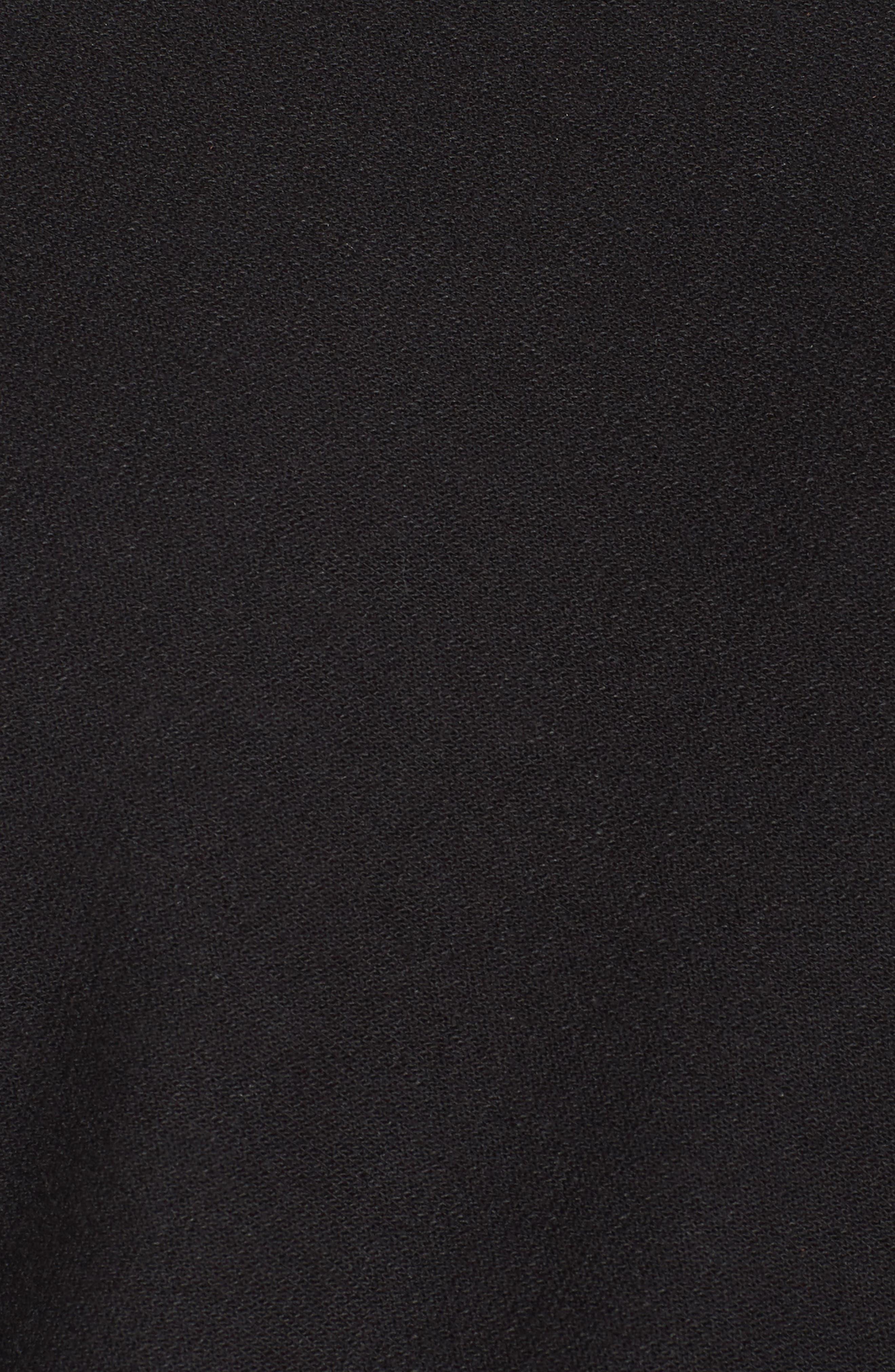 Soleil Funnel Neck Crop Pullover,                             Alternate thumbnail 6, color,                             Black