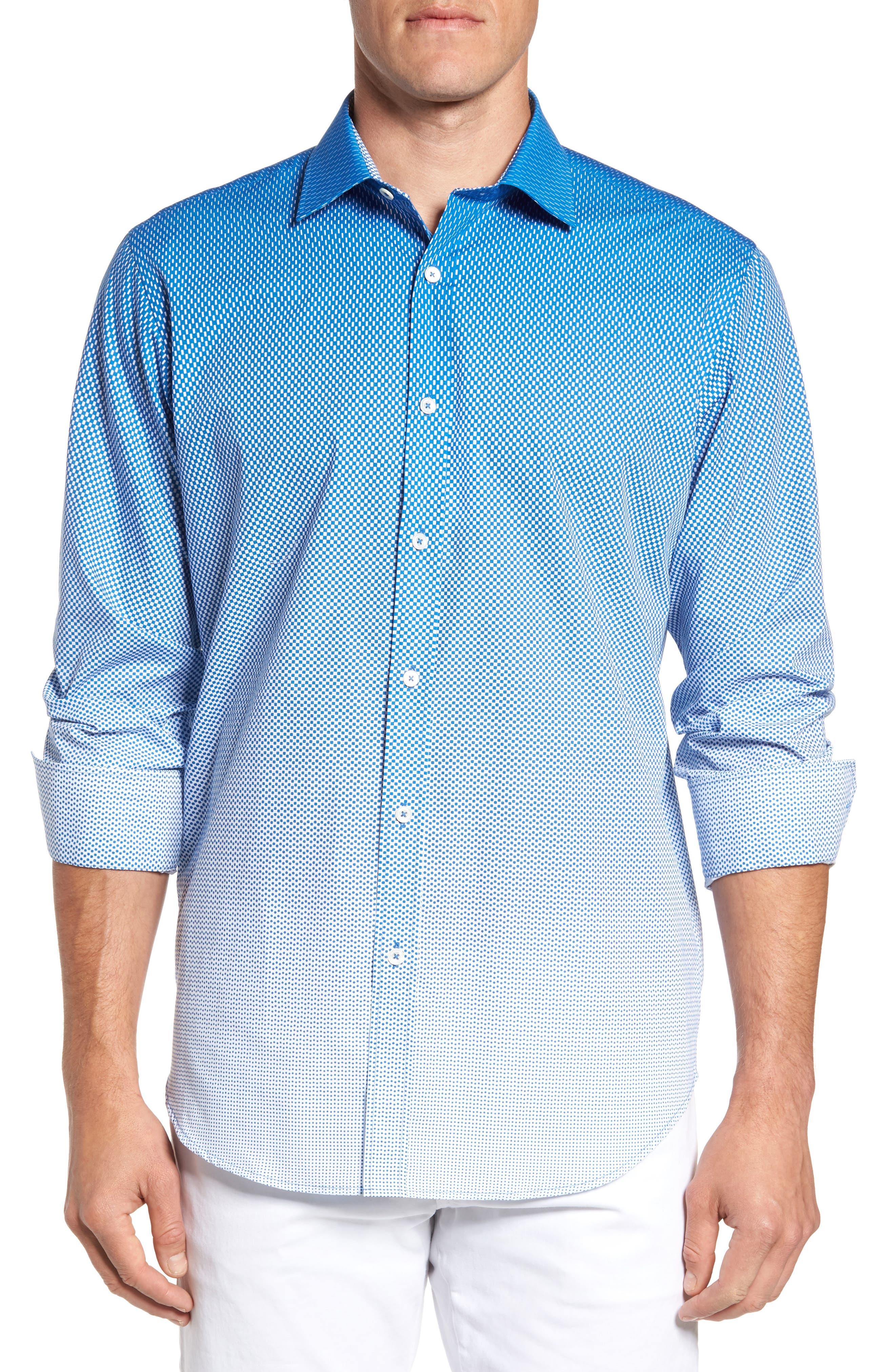 Alternate Image 1 Selected - Bugatchi Print Sport Shirt