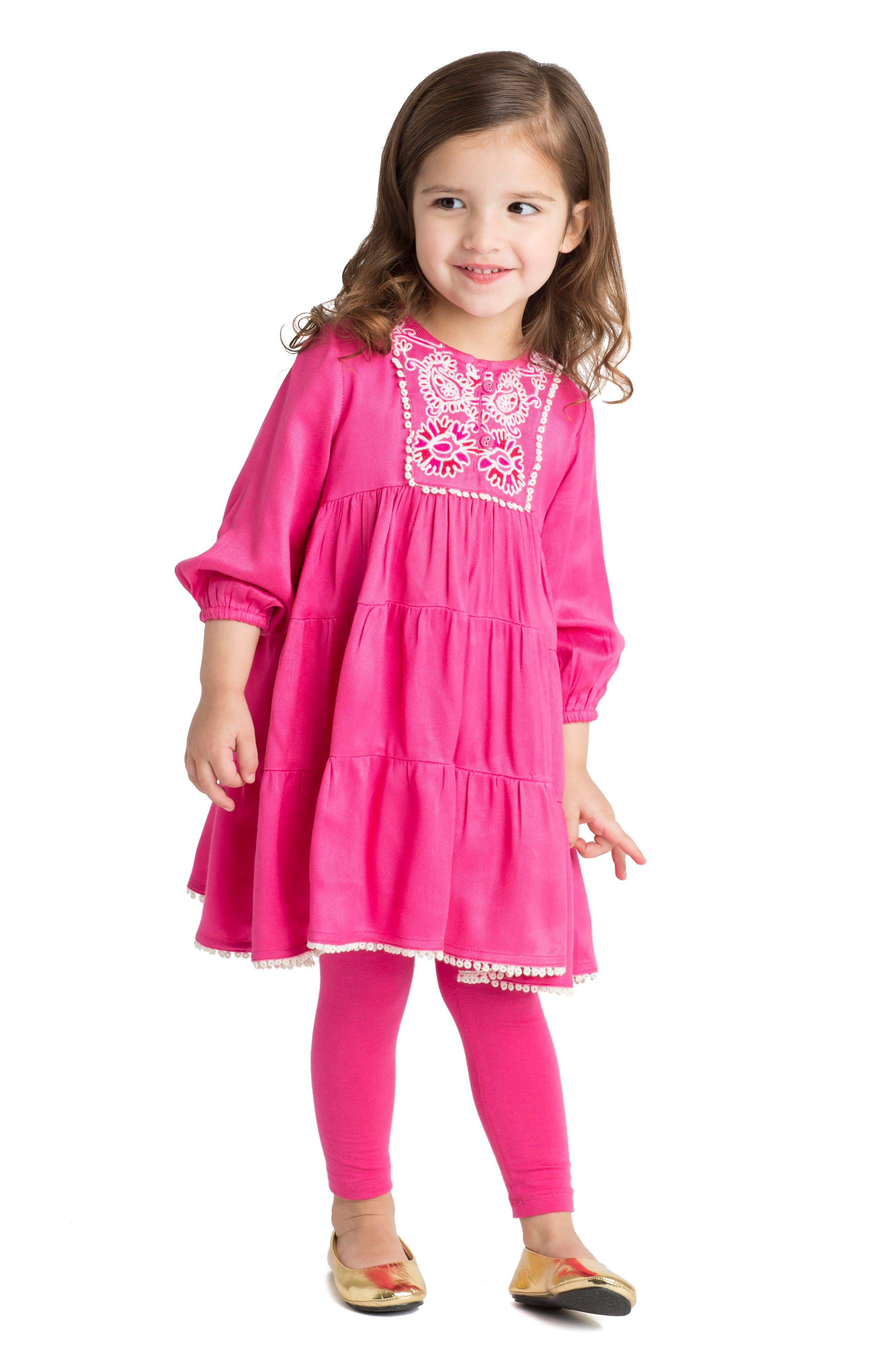 Alternate Image 2  - Masalababy Gypsy Rose Dress (Baby Girls)