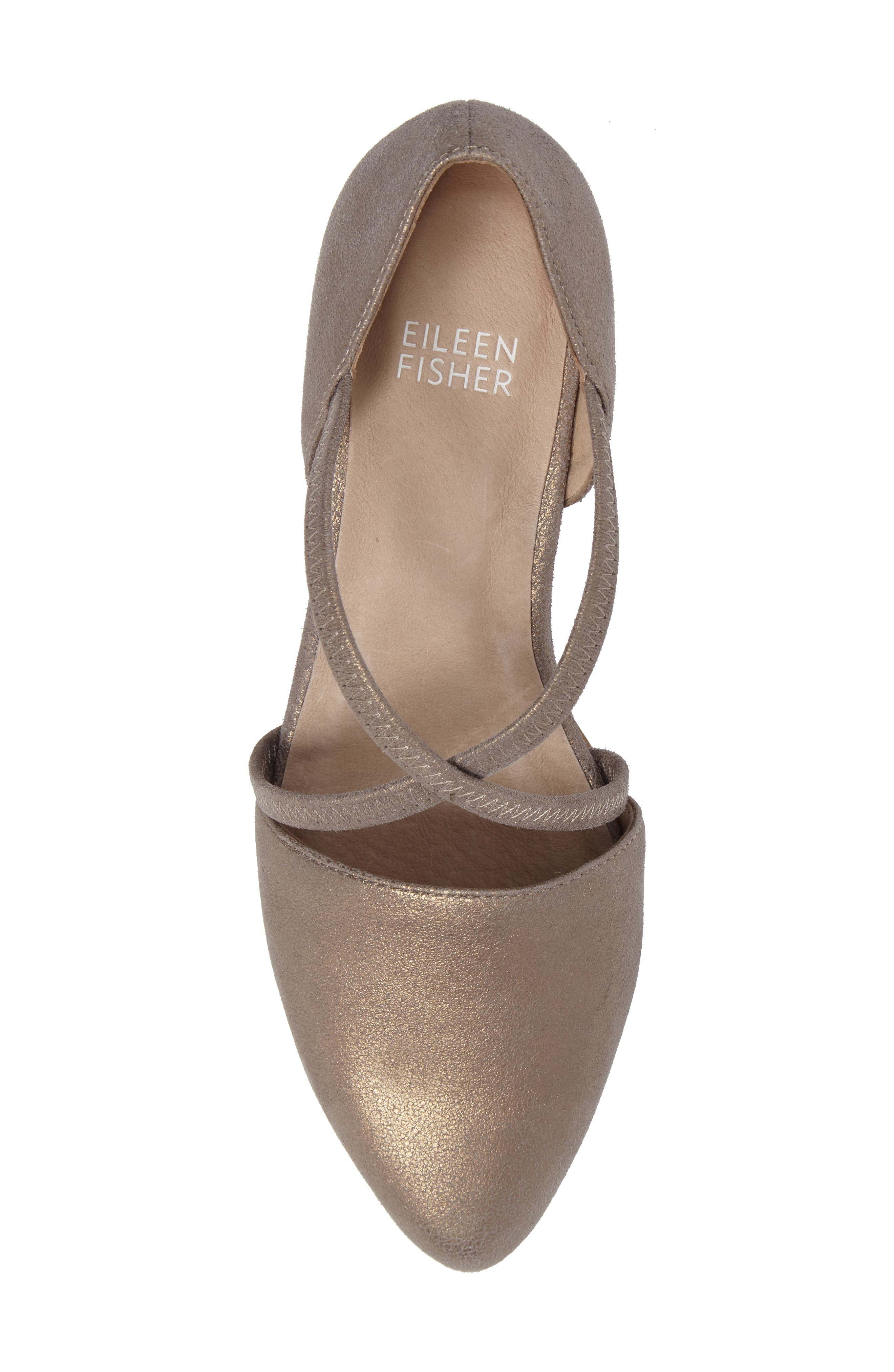 Alternate Image 5  - Eileen Fisher Poet Crisscross Pump (Women)