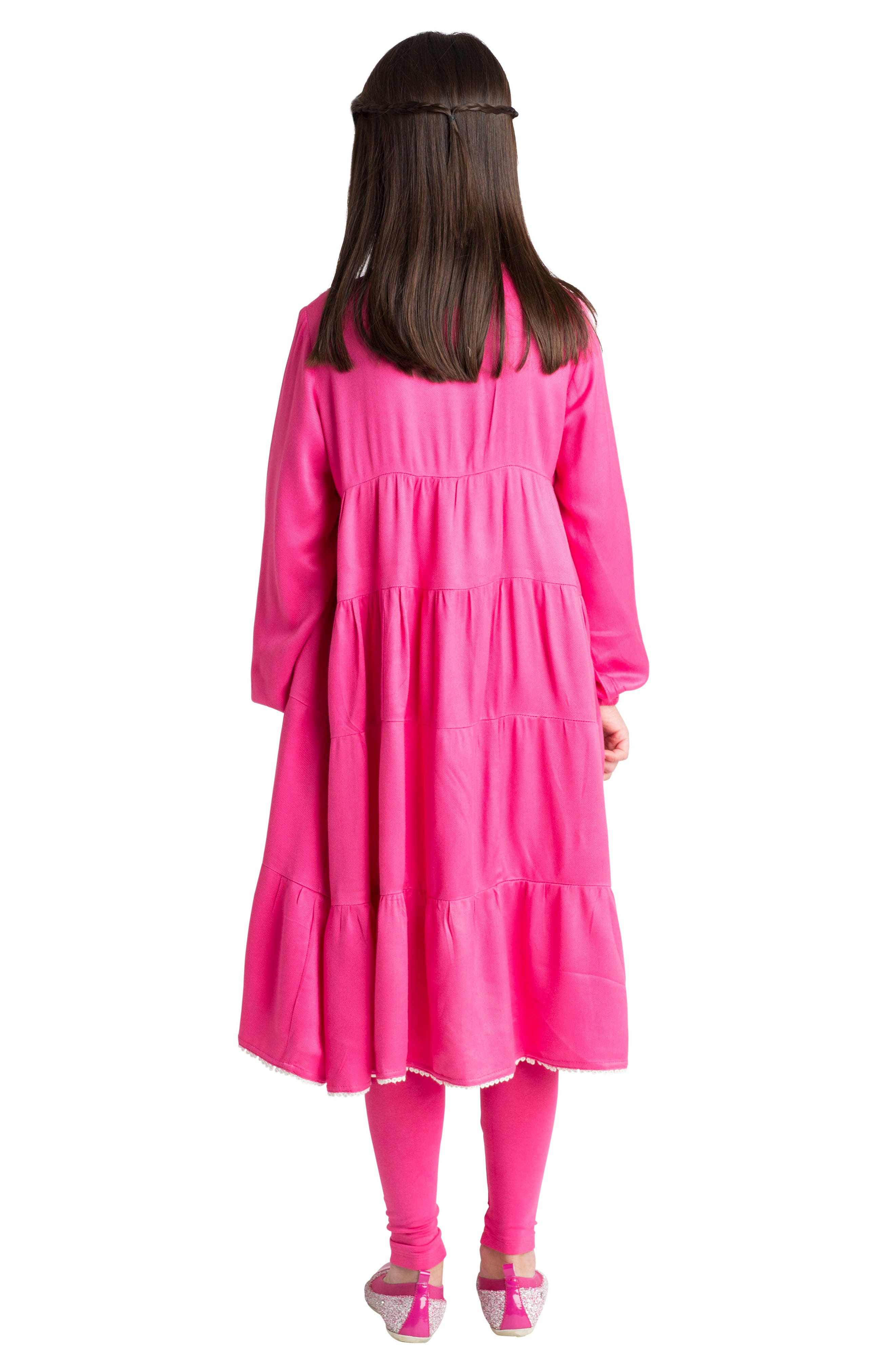 Rose Dress,                             Alternate thumbnail 3, color,                             Pink