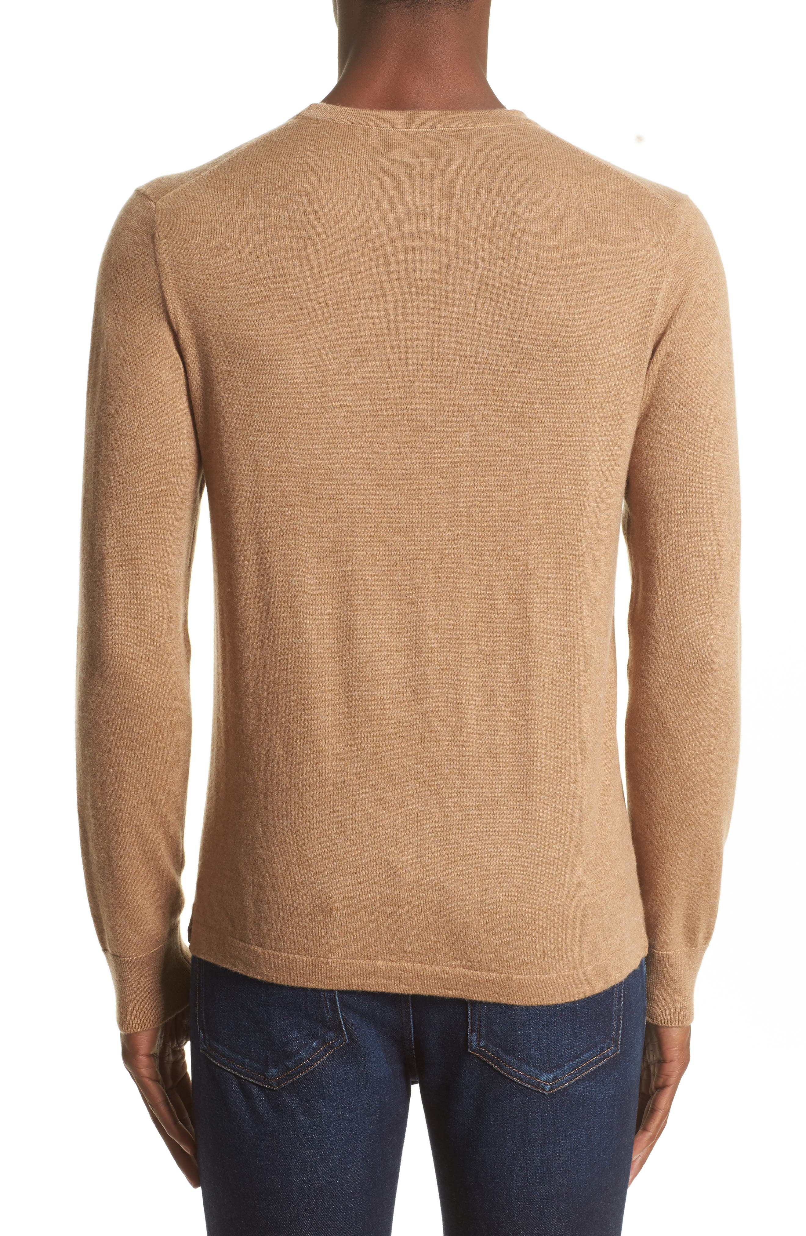 Cashmere Pocket T-Shirt,                             Alternate thumbnail 2, color,                             Camel