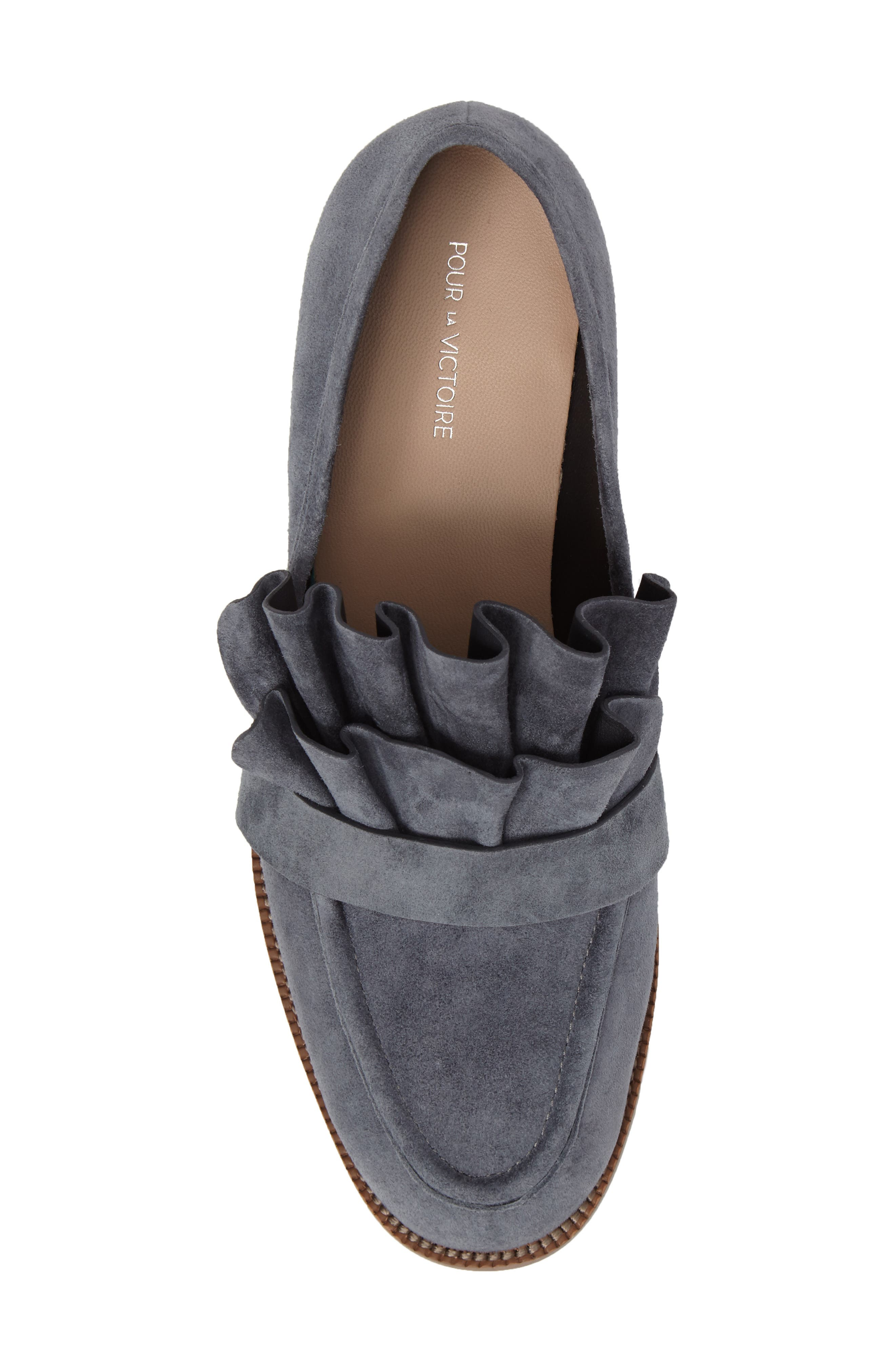 Alternate Image 5  - Pour la Victoire Tenley Ruffled Loafer (Women)