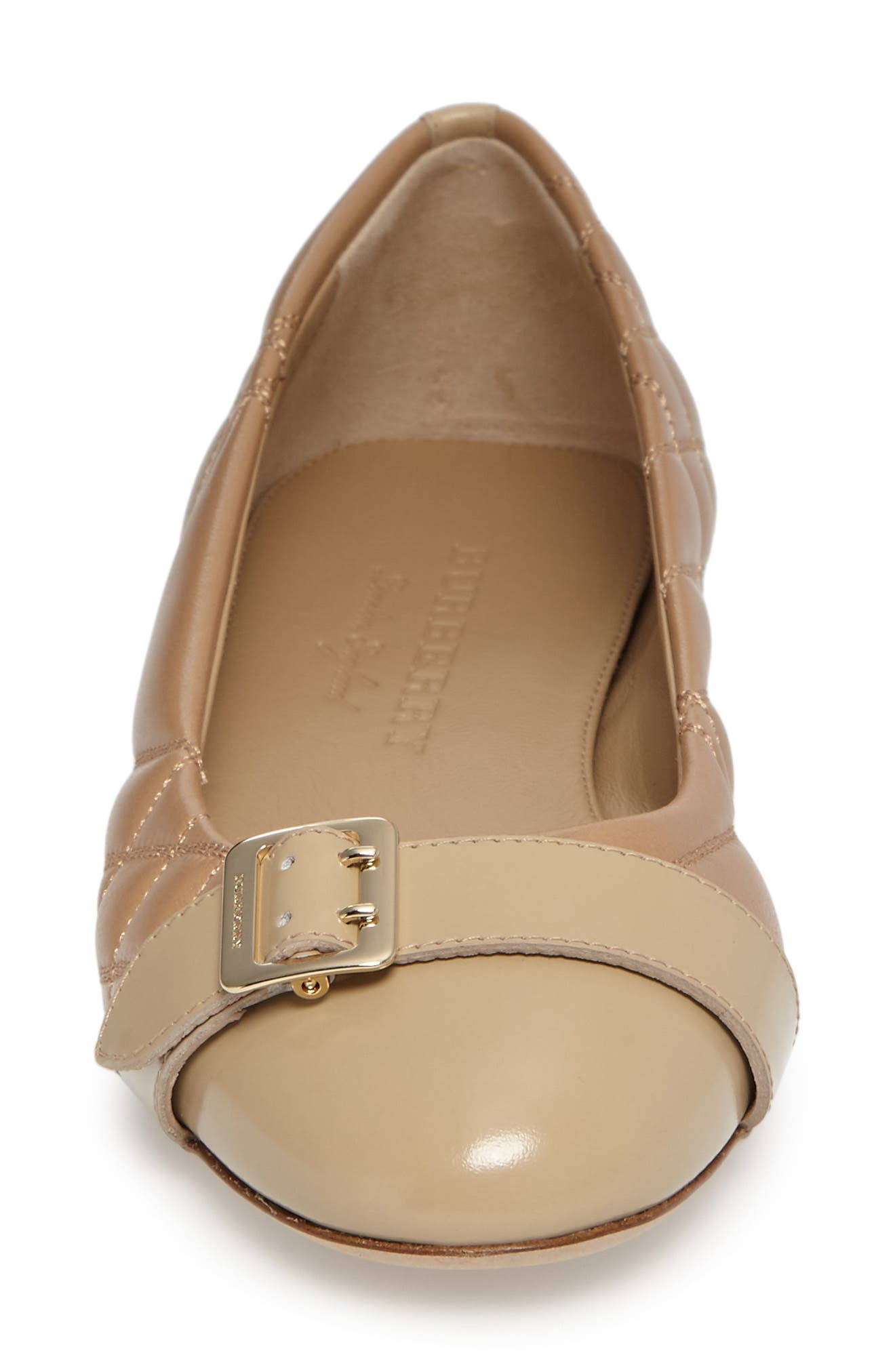 Alternate Image 4  - Burberry Quilted Ballerina Flat (Women)