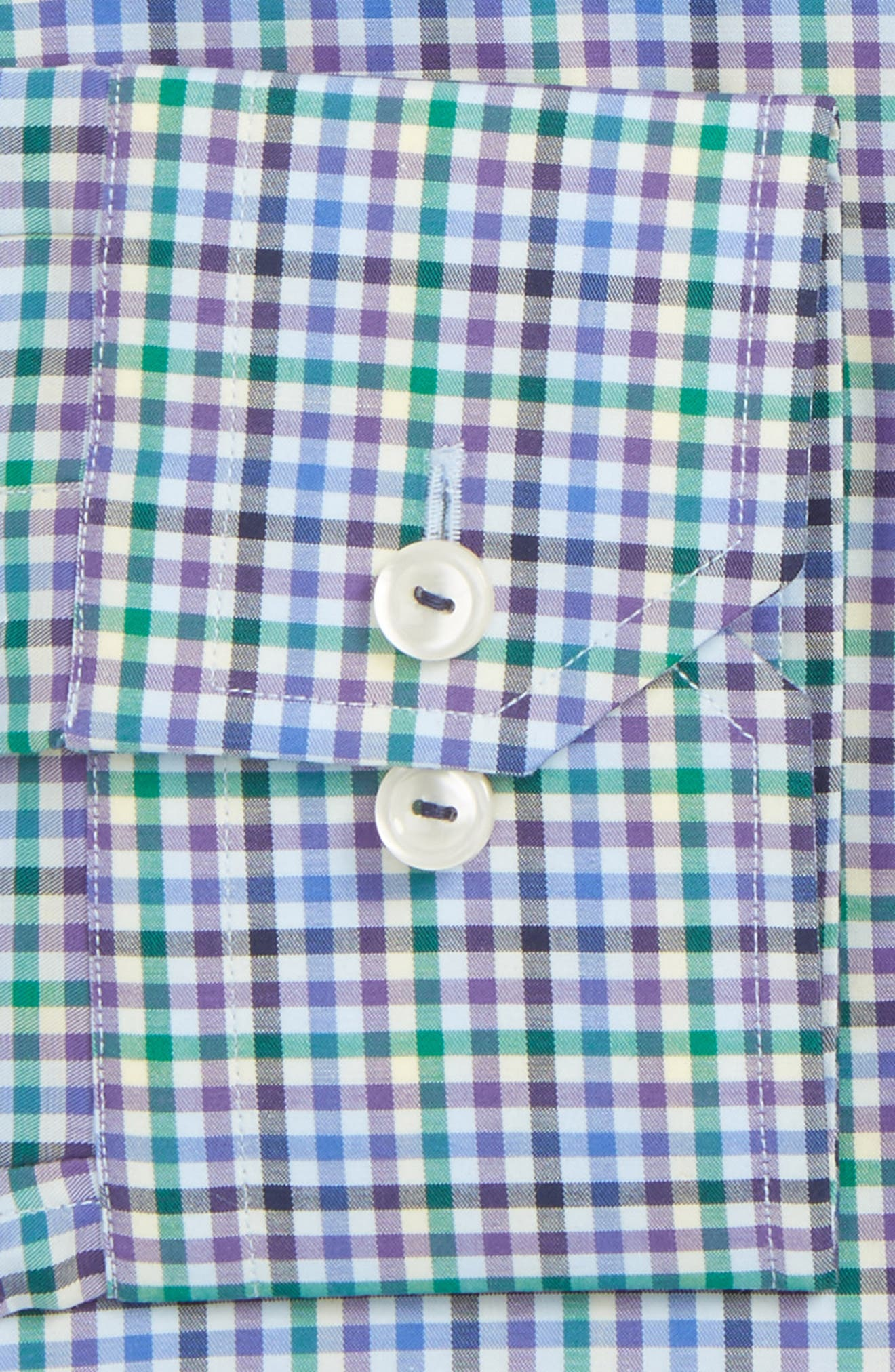 Slim Fit Check Dress Shirt,                             Alternate thumbnail 2, color,                             Blue Multi Check