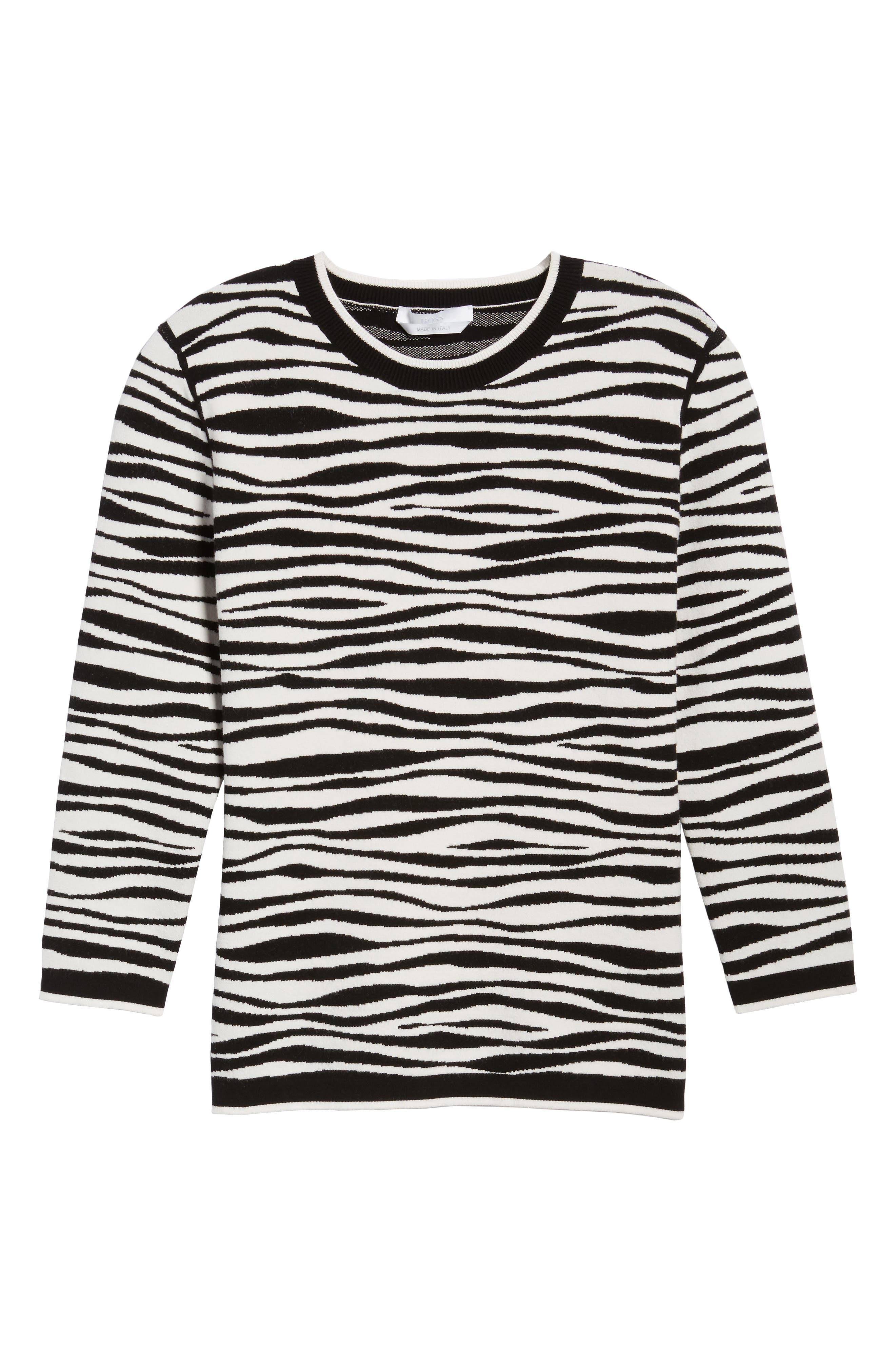 Alternate Image 6  - BOSS Fatima Zebra Stripe Sweater
