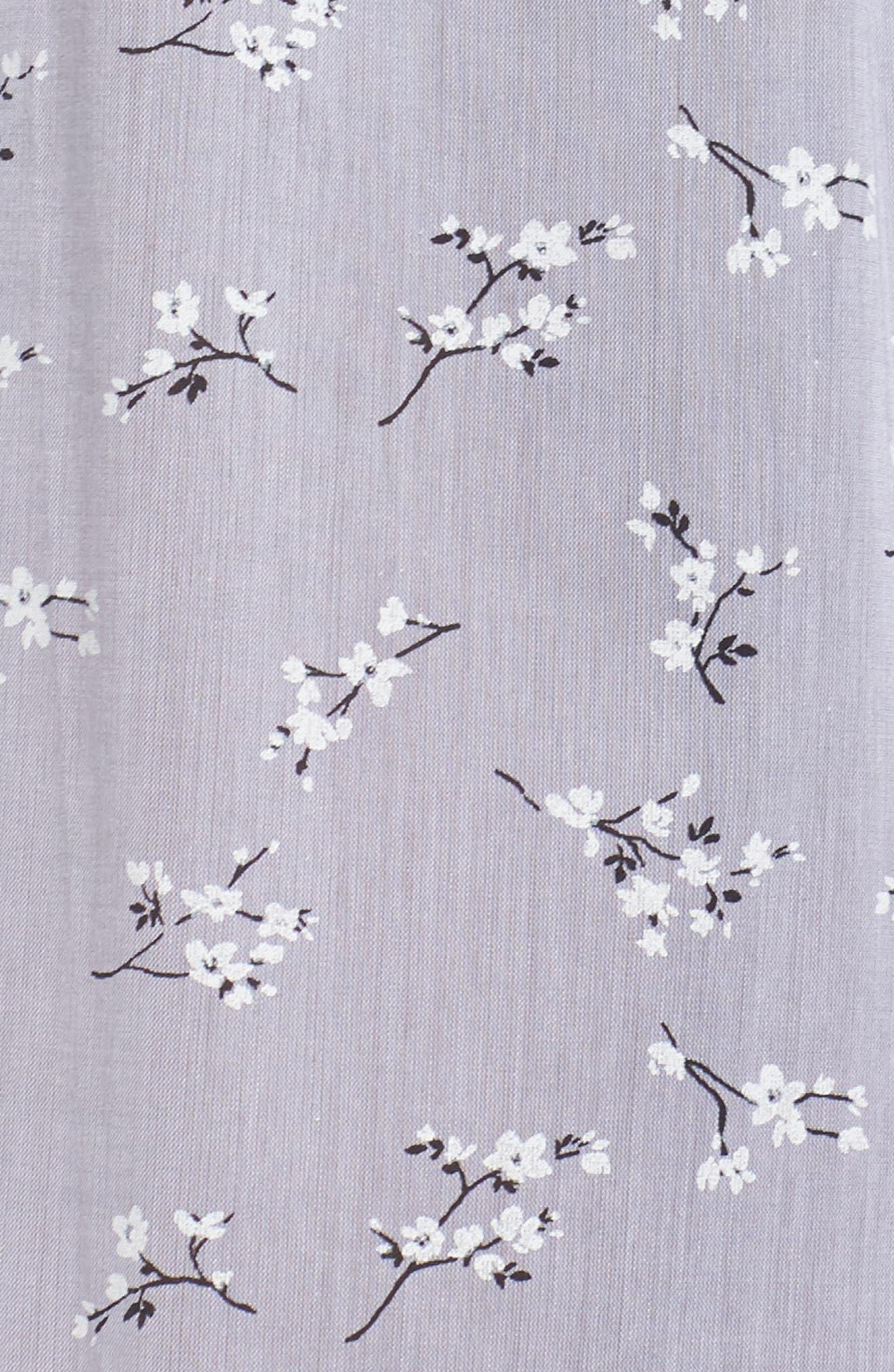 Pintuck Ballet Nightgown,                             Alternate thumbnail 6, color,                             Grey