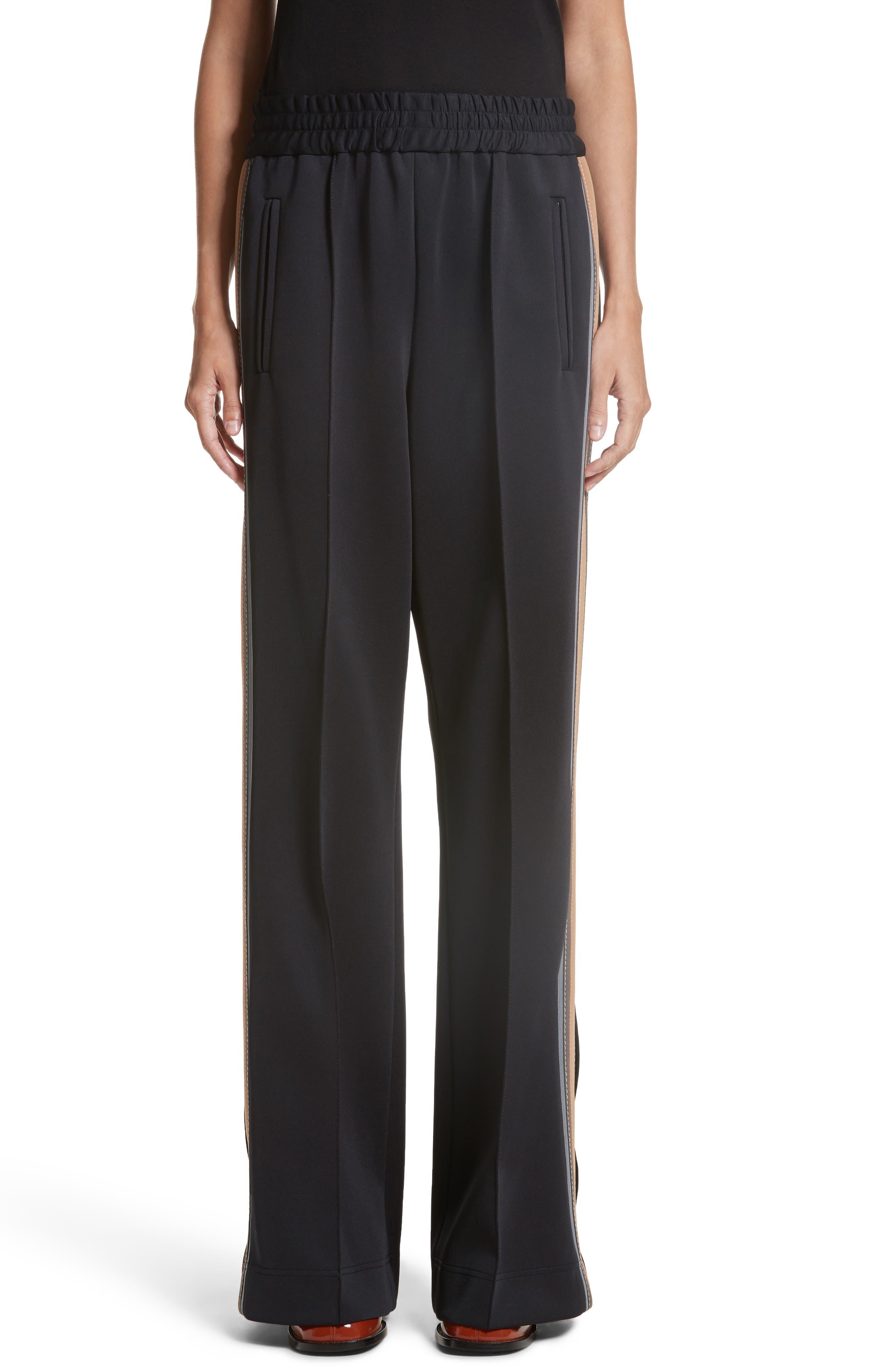 Stripe Jersey Track Pants,                         Main,                         color, Black Multi
