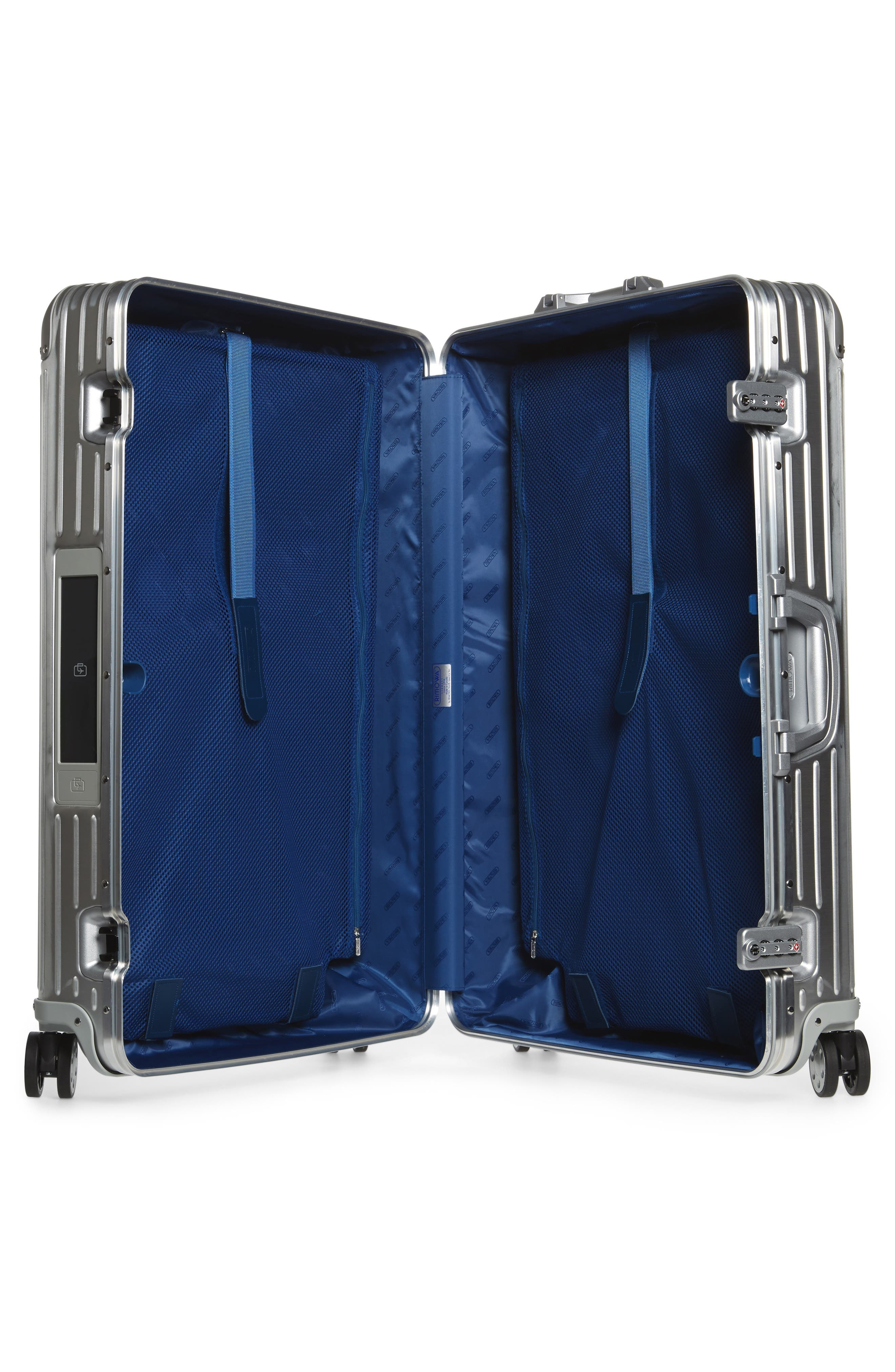 Alternate Image 2  - RIMOWA Topas 32-Inch Sport Multiwheel® Aluminum Packing Case with Electronic Tag