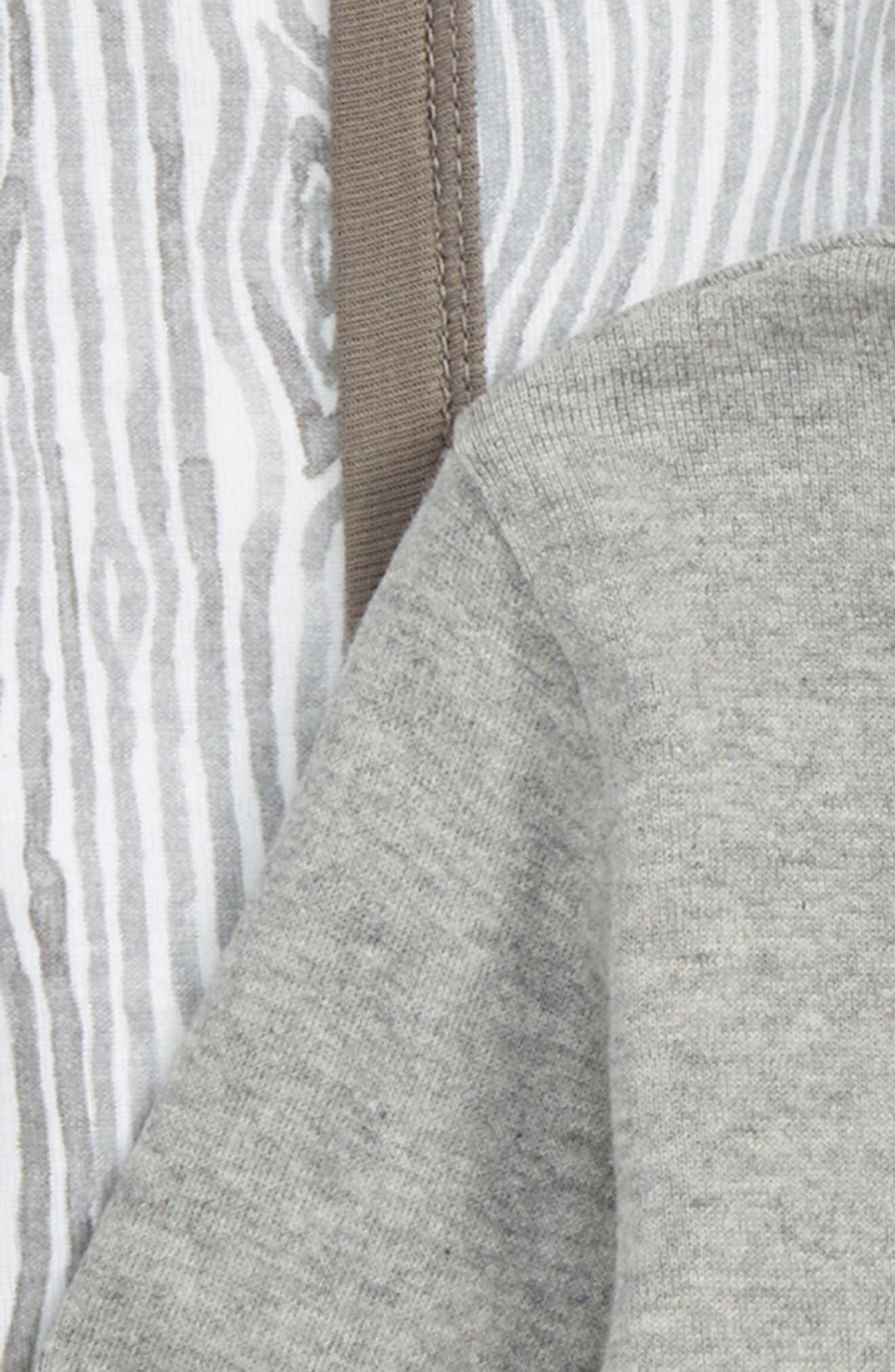 2-Pack Print Organic Cotton Bodysuits,                             Alternate thumbnail 2, color,                             Heather Grey