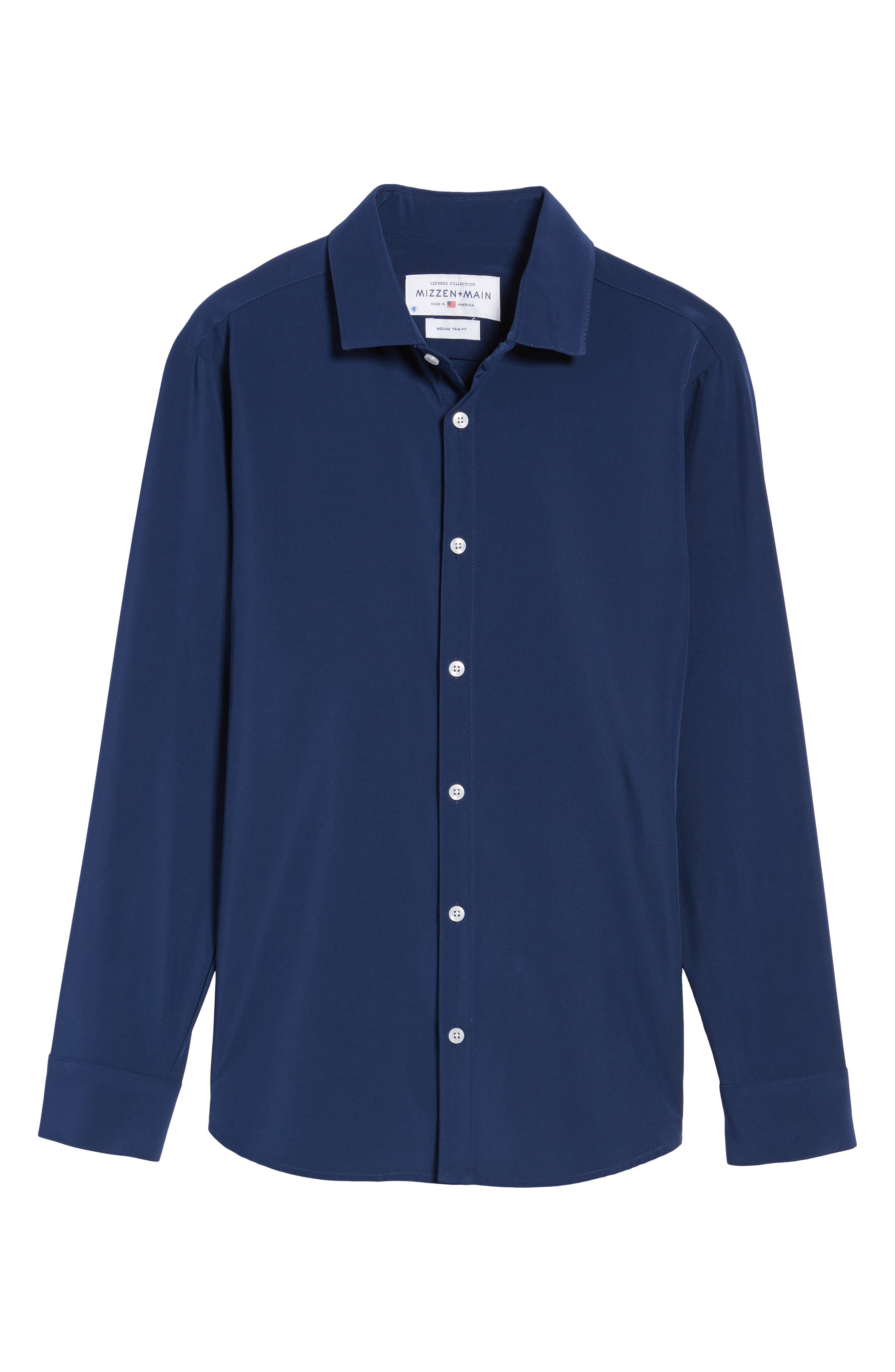 Alternate Image 6  - Mizzen+Main Dillon Slim Fit Performance Sport Shirt (Tall)