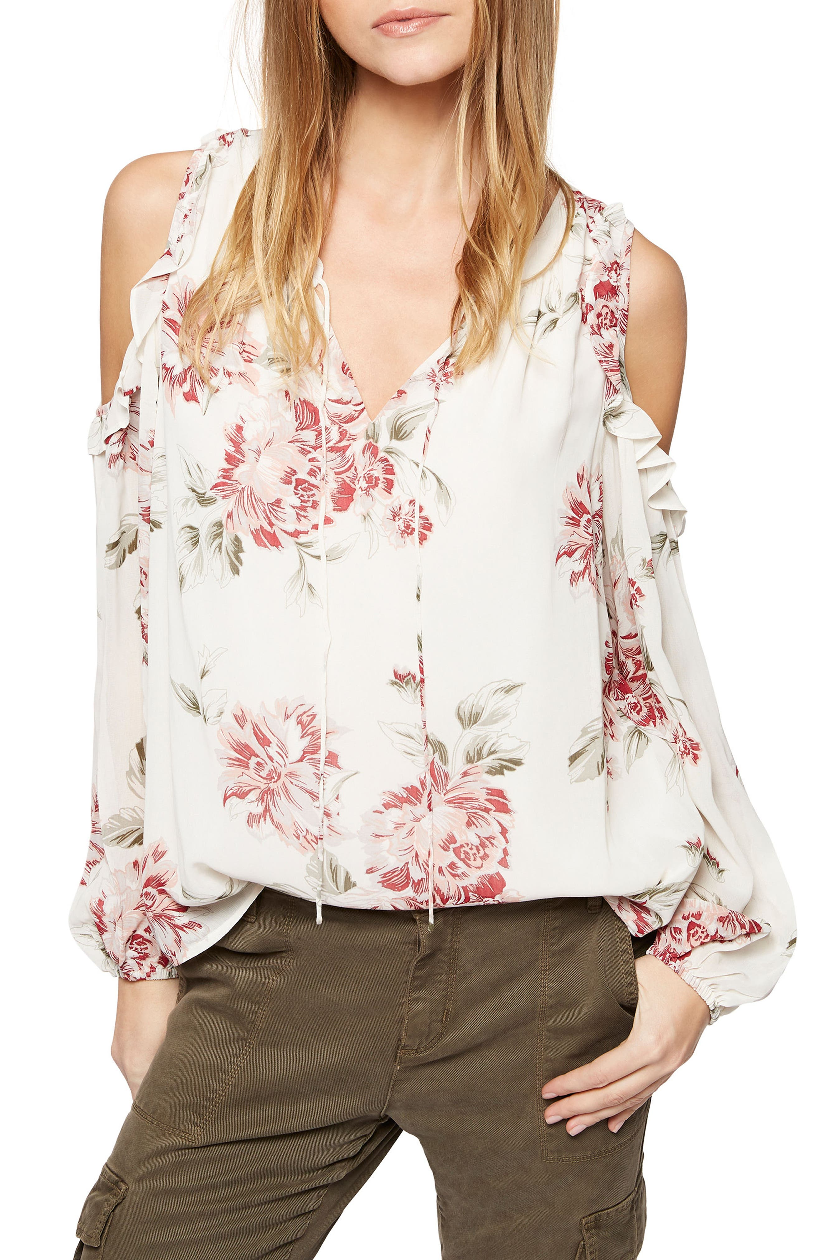 Alternate Image 1 Selected - Sanctuary Blaire Cold Shoulder Top (Regular & Petite)