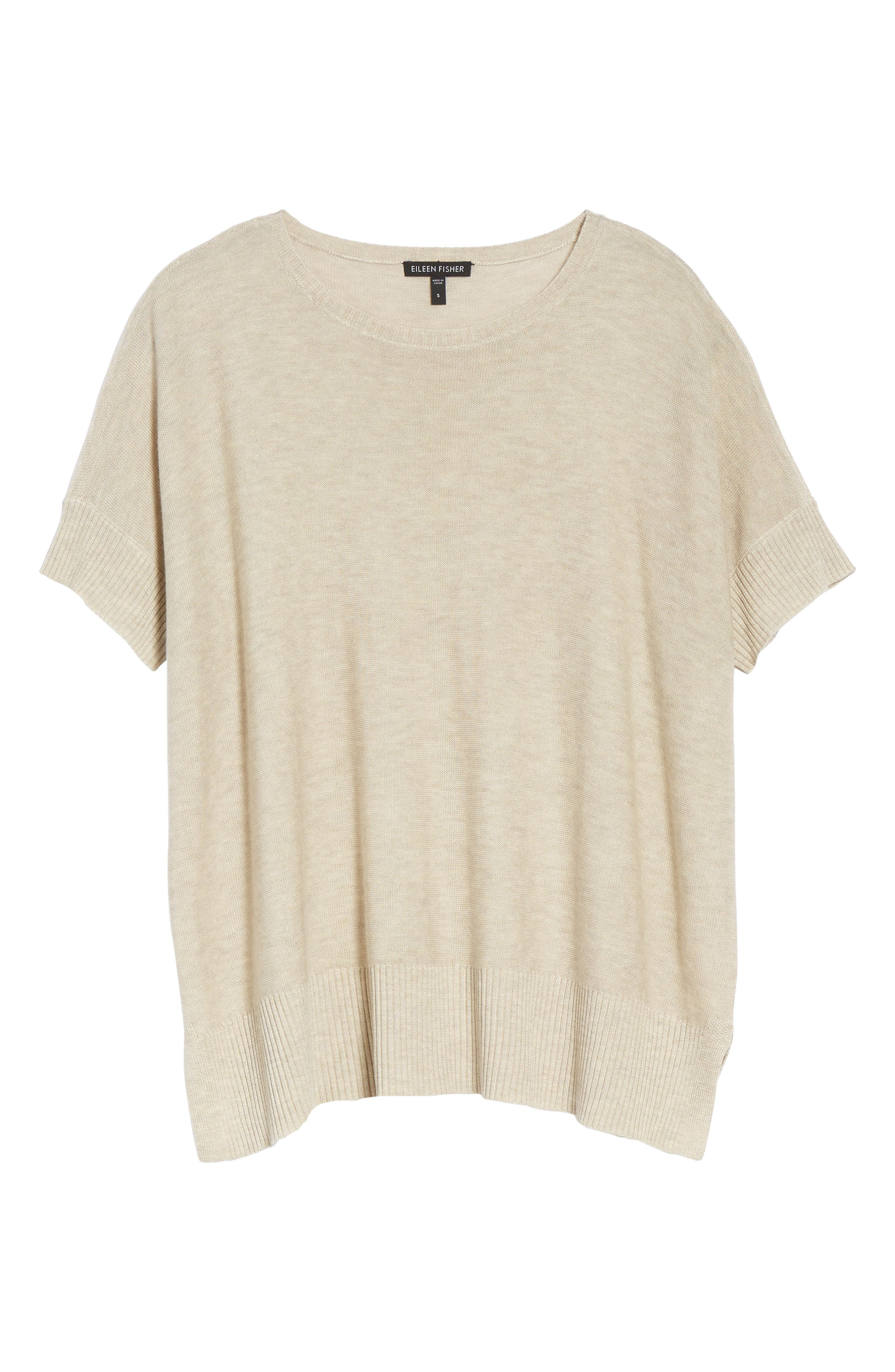 Tencel<sup>®</sup> & Merino Wool Top,                             Alternate thumbnail 6, color,                             Maple Oat